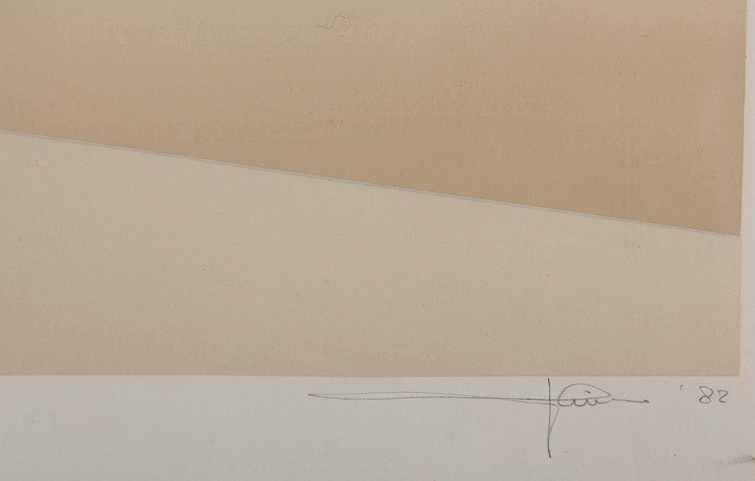 Dirk Huizer - Piramiden - 2/25 - 1982 - zeefdruk op papier - BKR Rotterdam kopen? Bied vanaf 20!