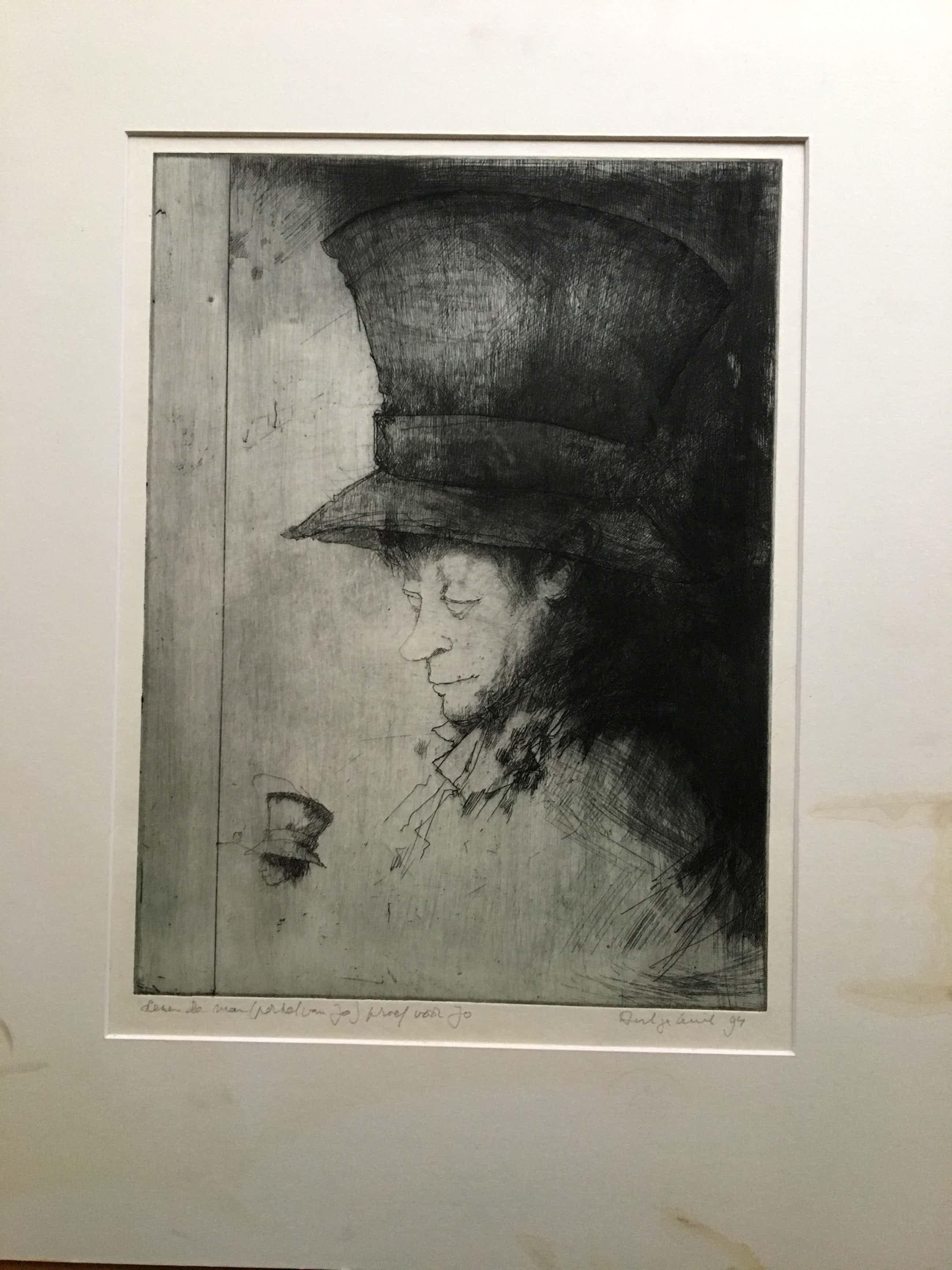 Dirkje Kuik - Lezende man ( portret van Jo) kopen? Bied vanaf 65!