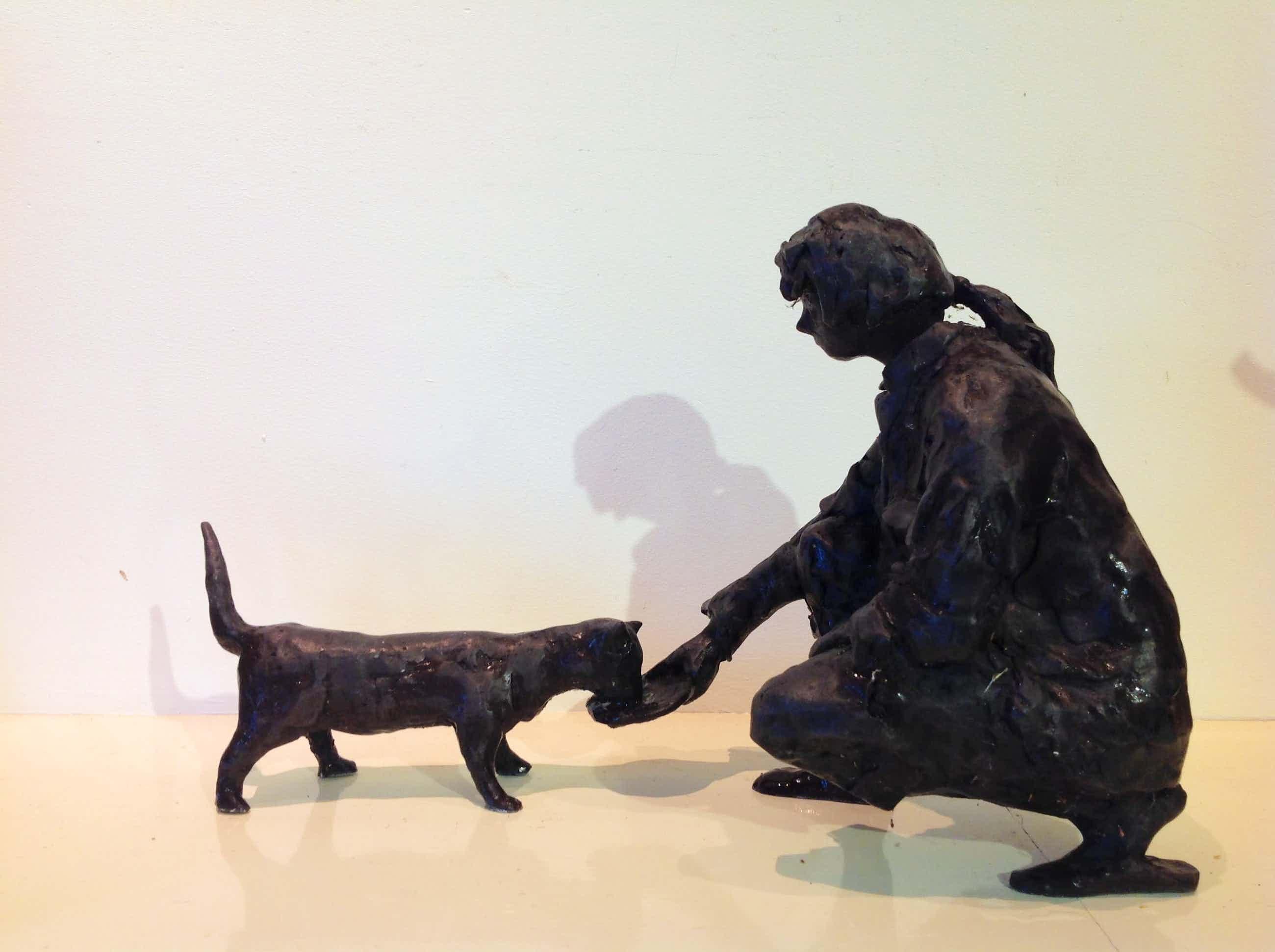 Rob Houdijk - meisje met de kat kopen? Bied vanaf 800!