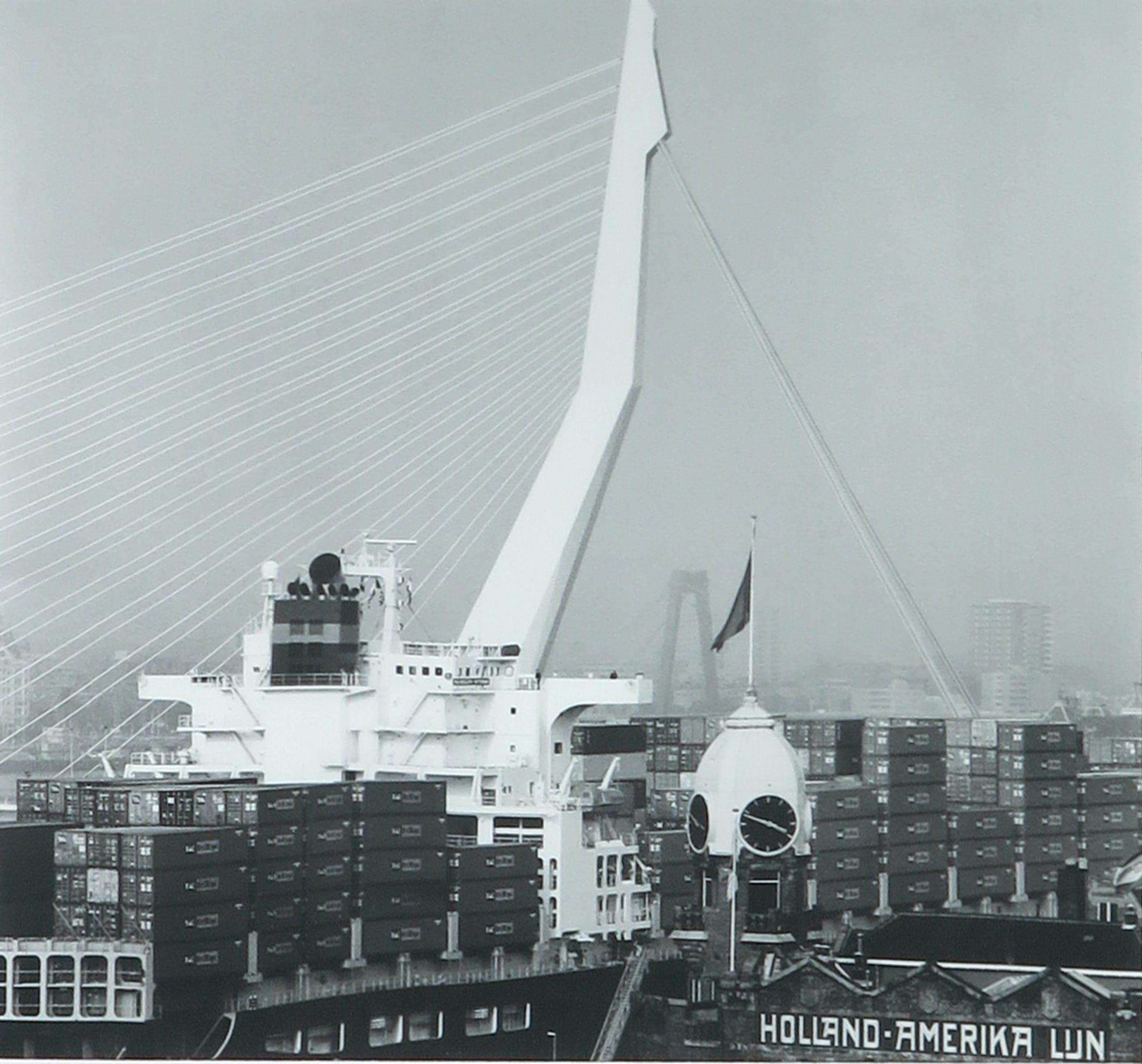 Niet of onleesbaar gesigneerd - Foto, Erasmusbrug Rotterdam - Ingelijst kopen? Bied vanaf 1!