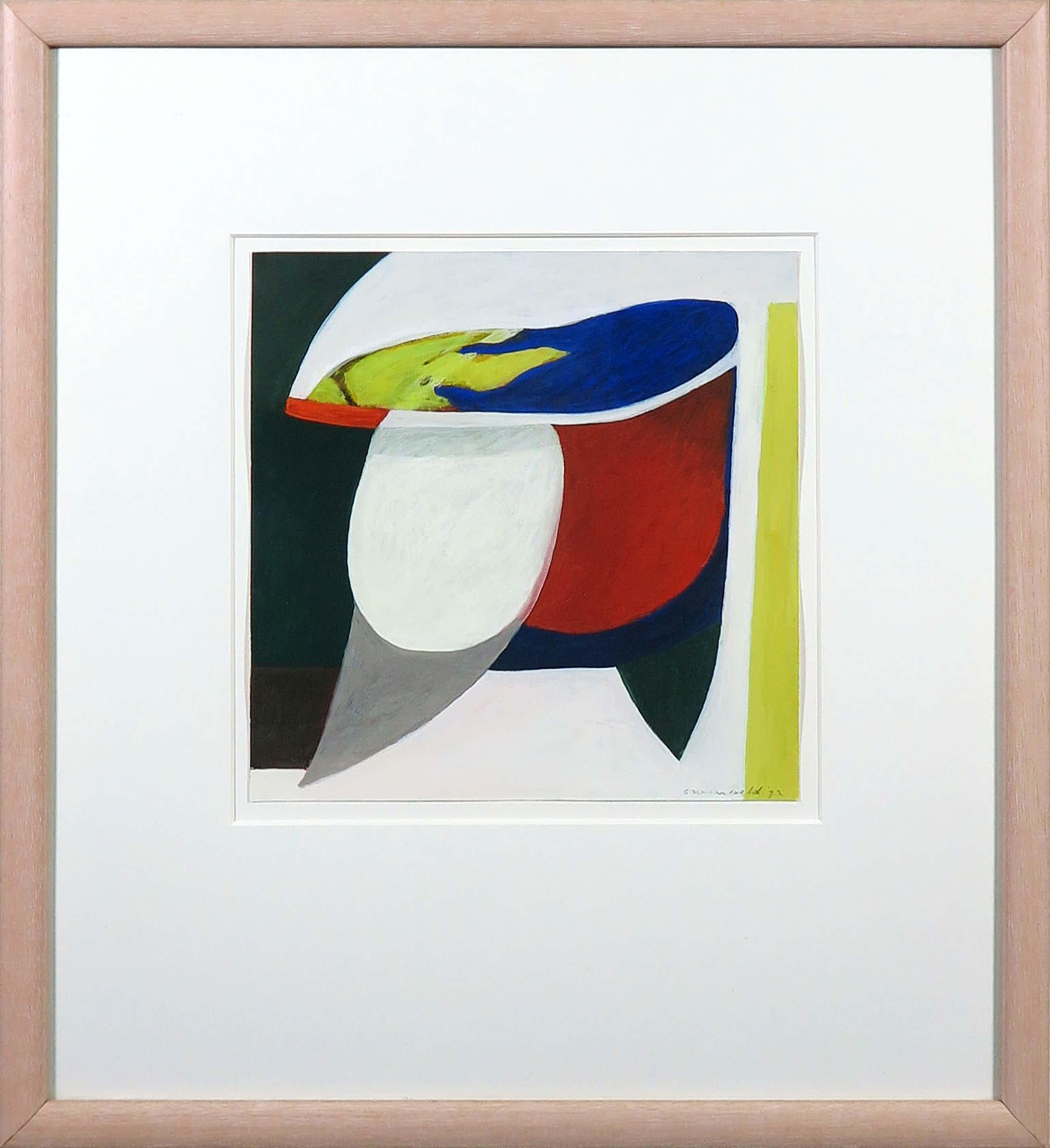 Doris Groeneveld - Gouache, Abstracte compositie - Ingelijst kopen? Bied vanaf 50!