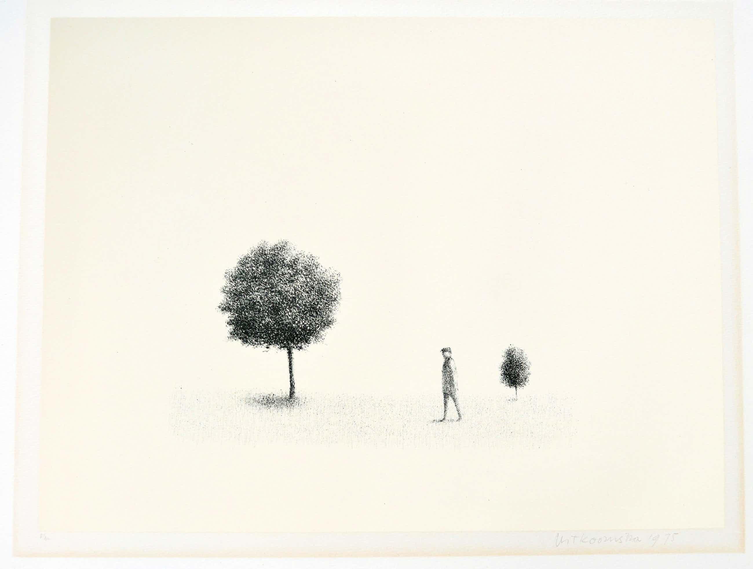 Metten Koornstra - man en boom kopen? Bied vanaf 70!