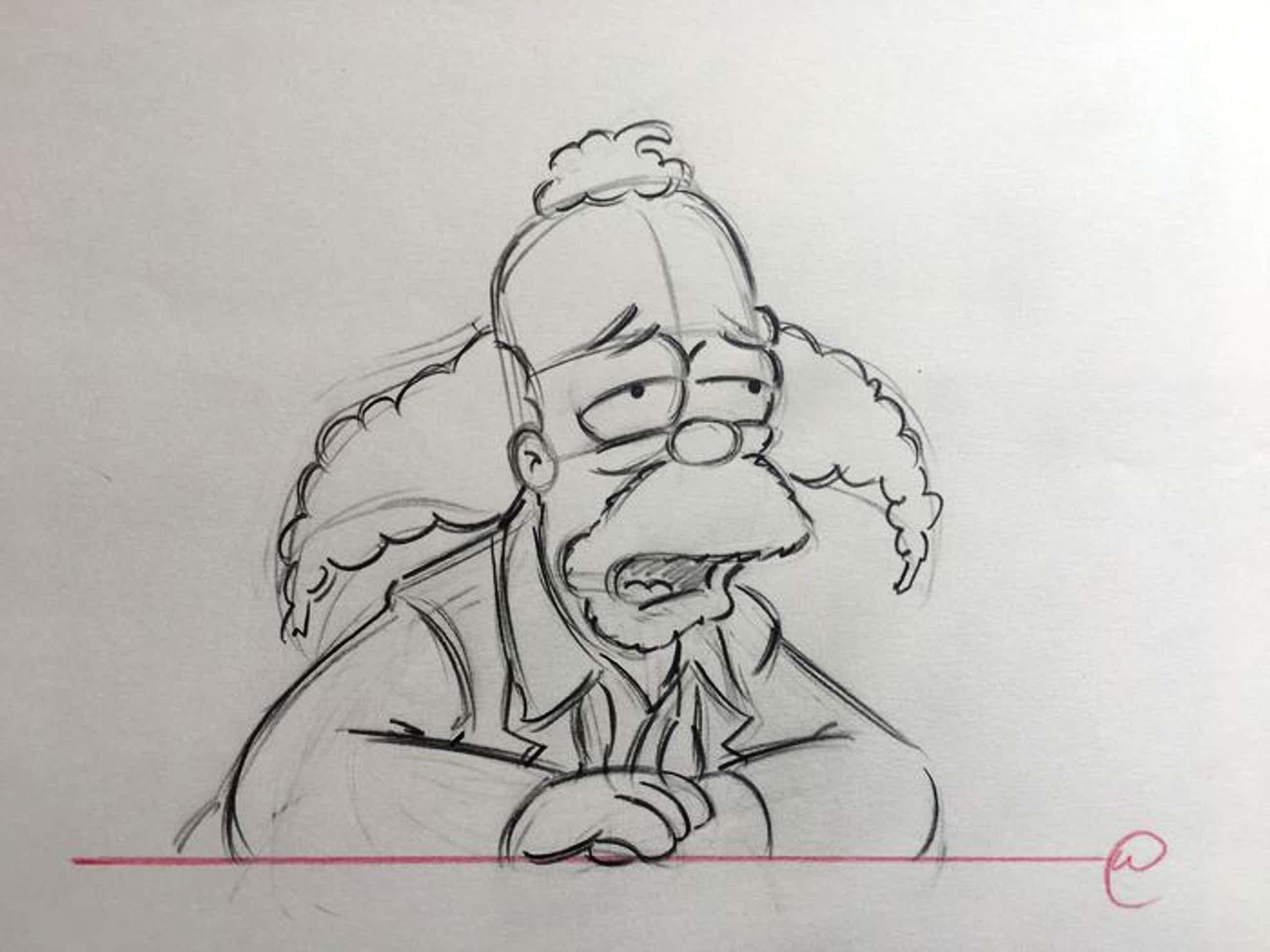 Matt Groening - originele tekening, Krusty The Clown, The Simpsons + ingelijst + certificaat kopen? Bied vanaf 50!