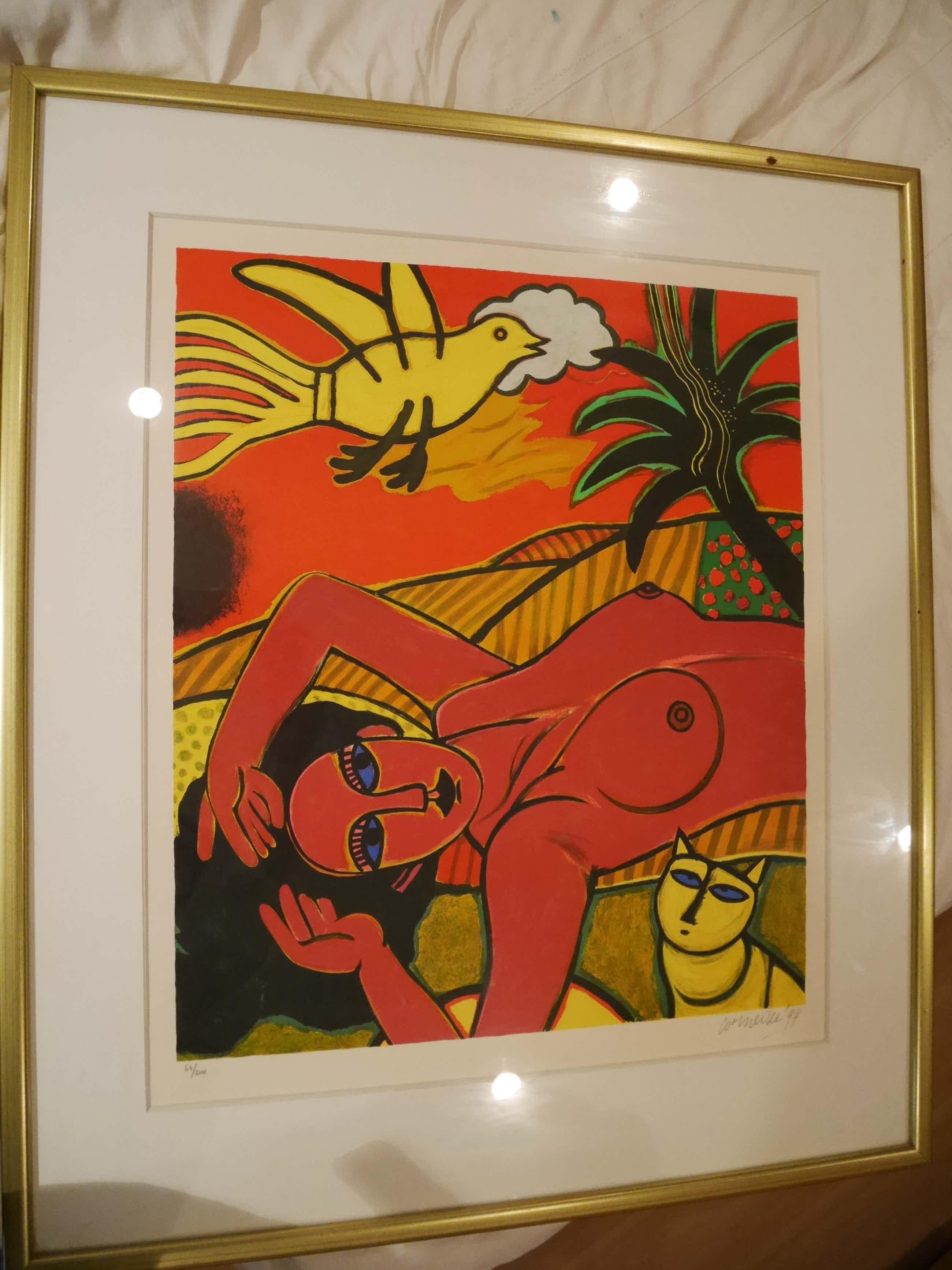 Corneille - Rode vrouw met vogel en kat kopen? Bied vanaf 600!