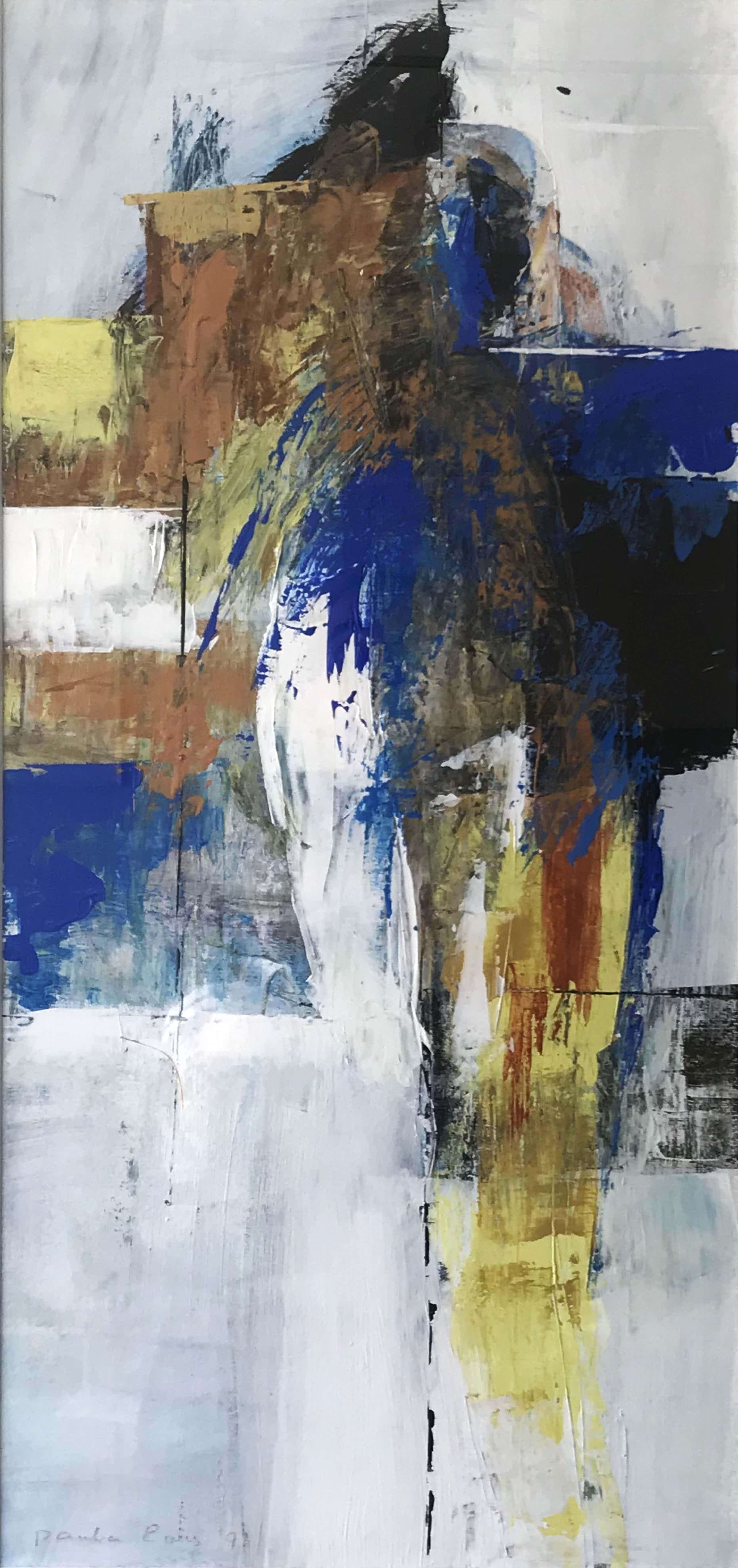Paula Evers - Acryl op board, Abstract - Ingelijst kopen? Bied vanaf 220!