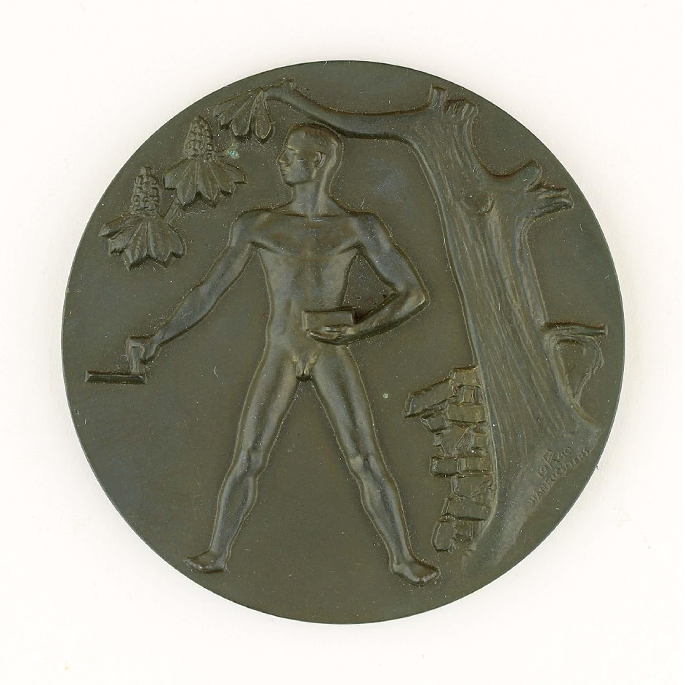 Hans Richter - Bronzen penning: Opbouw, 1940 kopen? Bied vanaf 55!