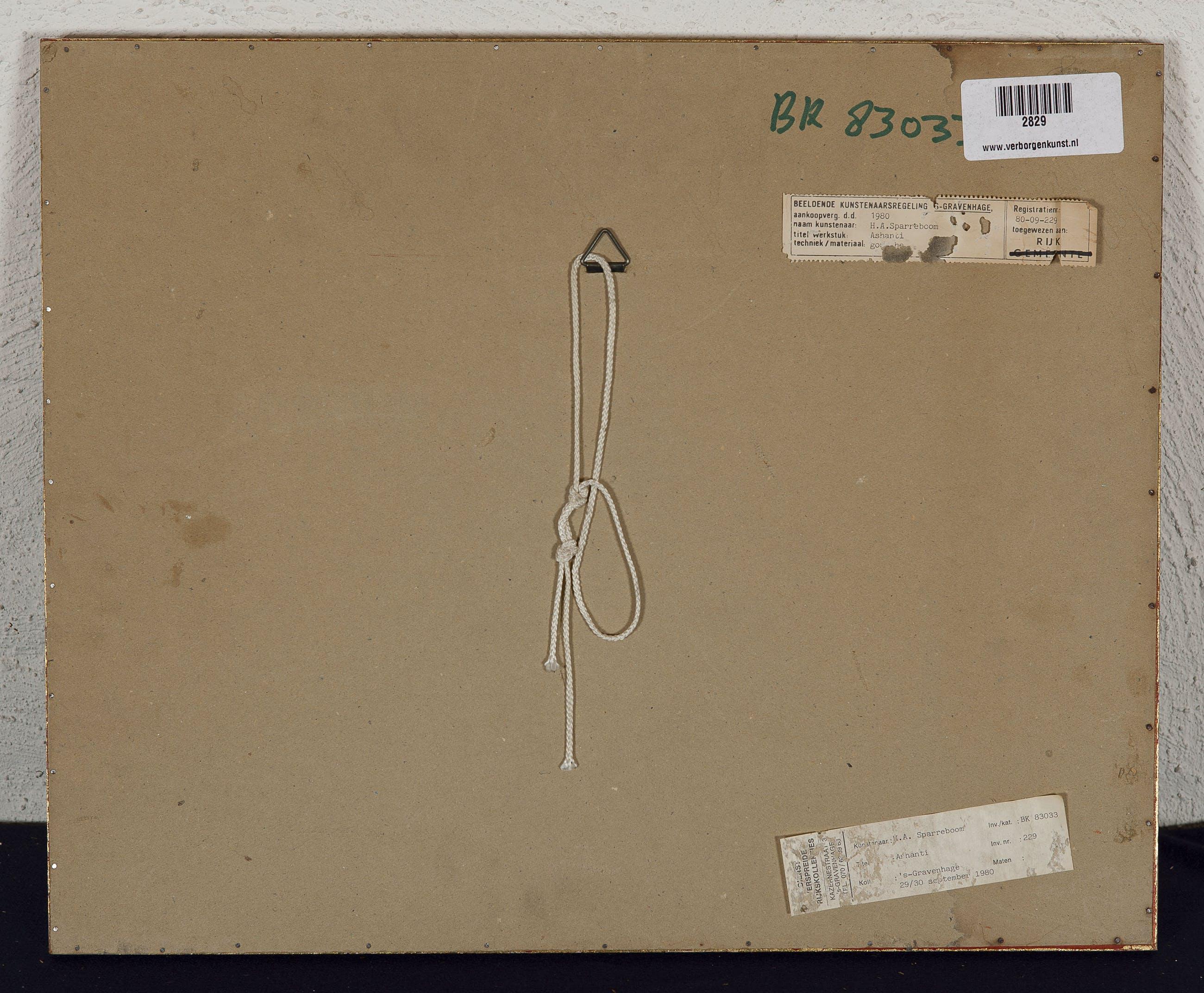 Henk Sparreboom - Ashanti - 1980 - gouache en aquarel op papier kopen? Bied vanaf 20!