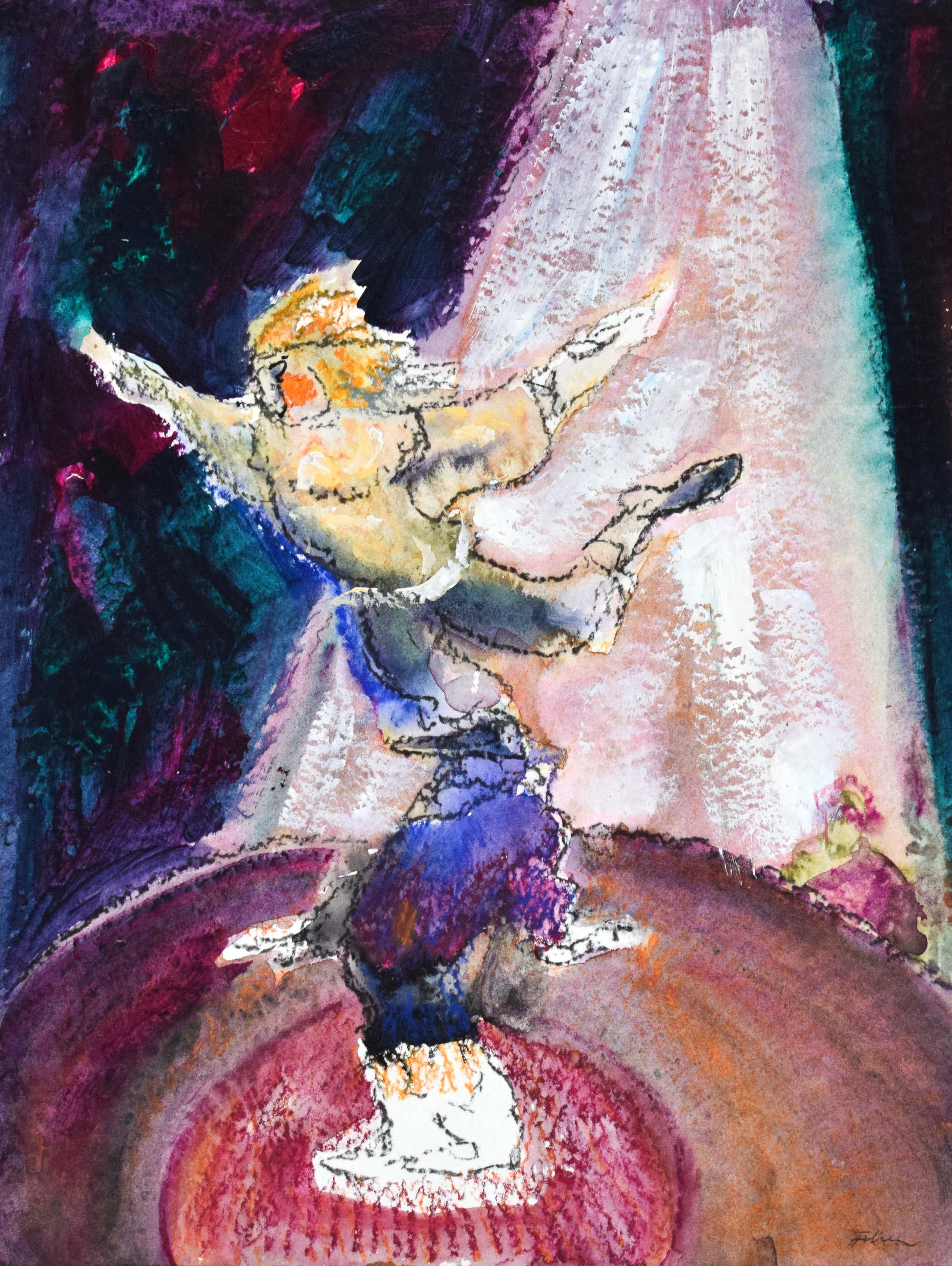 Luis Filcer - Dansende Clowns - Fraai ingelijst kopen? Bied vanaf 400!