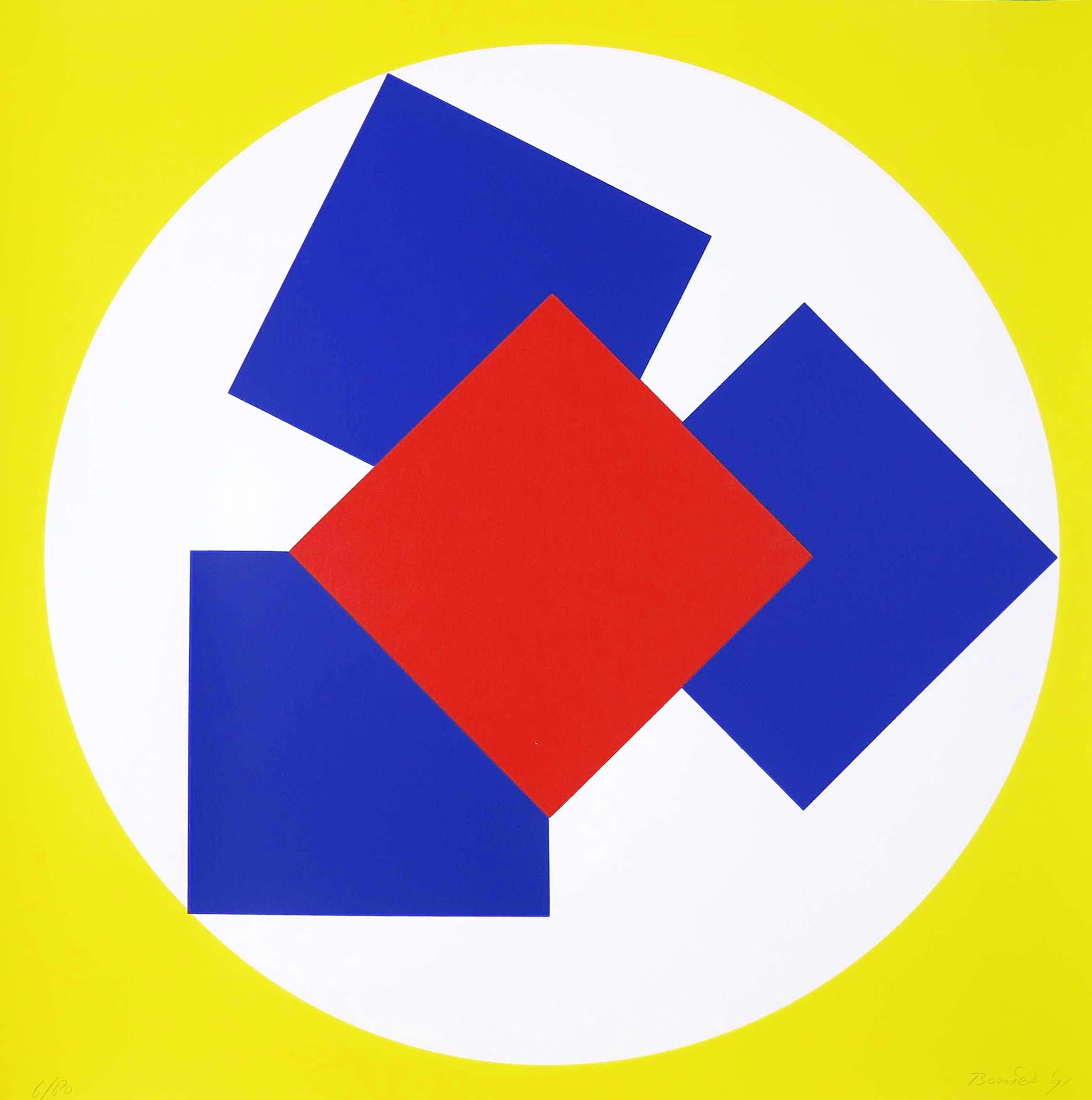 Bob Bonies - Zeefdruk, Geometrische compositie kopen? Bied vanaf 62!