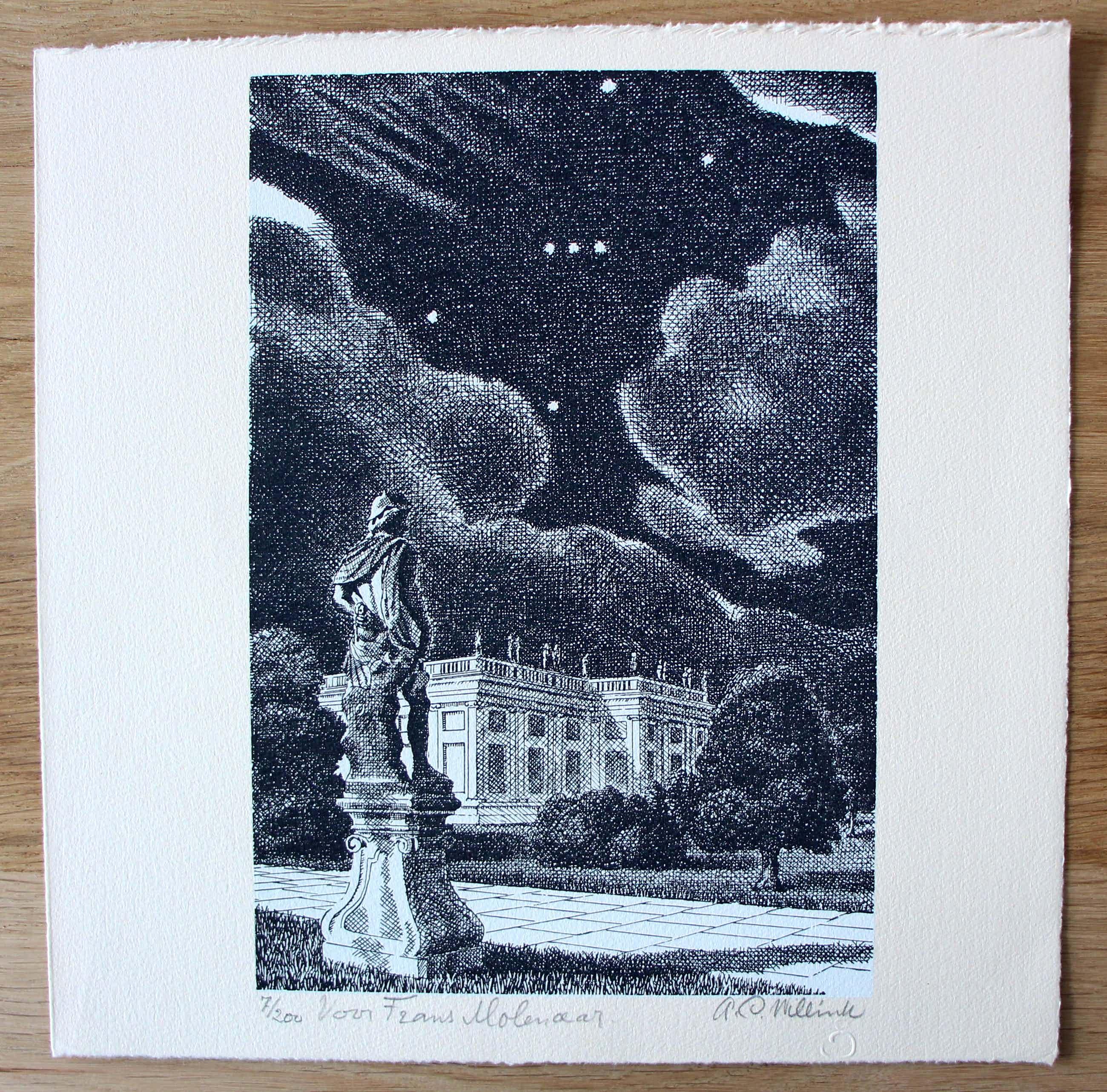 Carel Willink - litho: Berlin + gesigneerd boek (uit nalatenschap van Frans Molenaar) kopen? Bied vanaf 295!