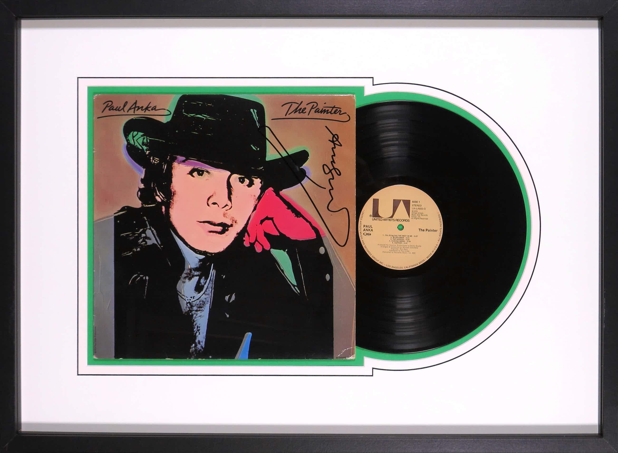 Andy Warhol - Paul Anka & The Painter - Handgesigneerd album - Ingelijst kopen? Bied vanaf 455!