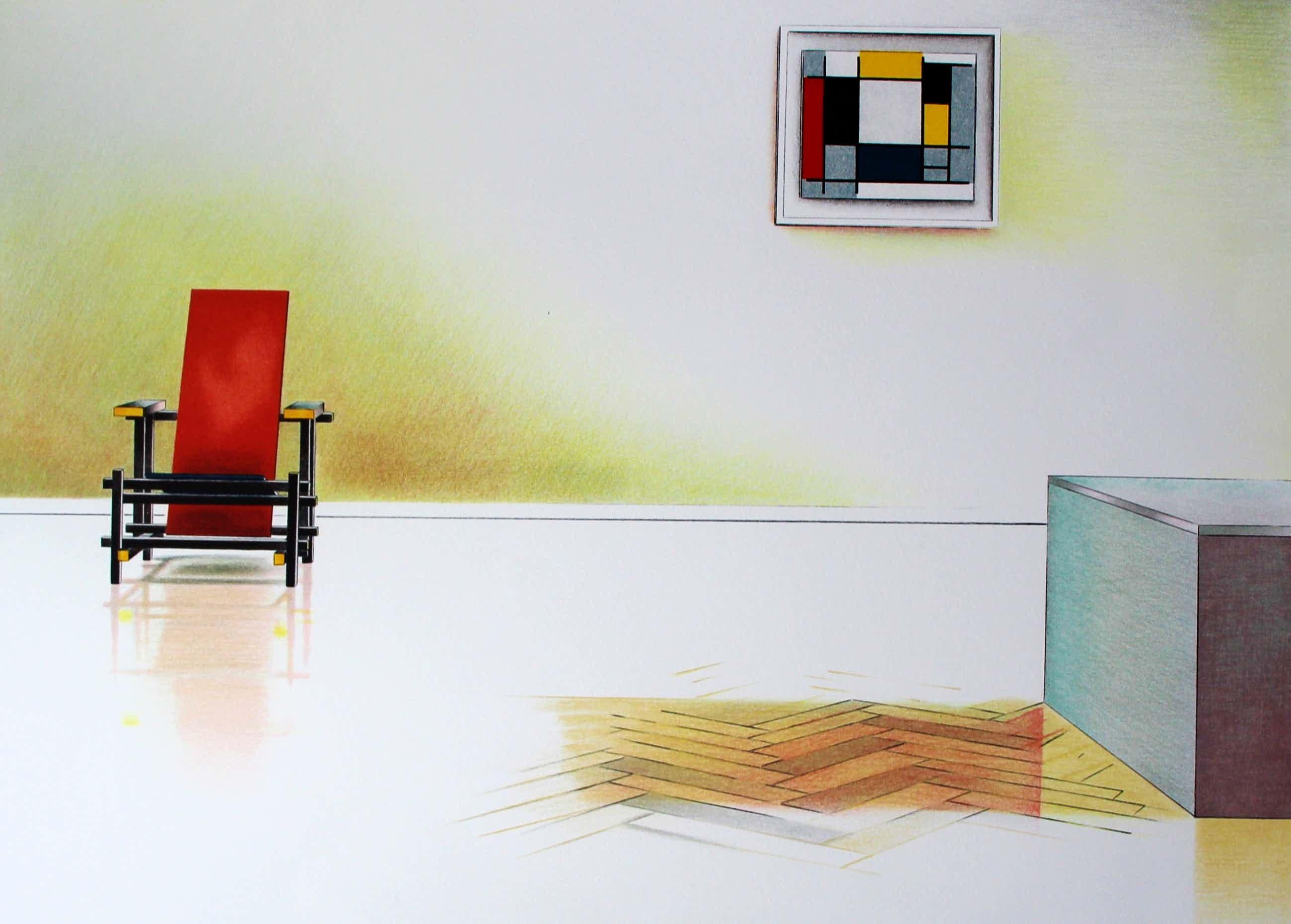 Willem van Veldhuizen - litho: Hollands Interieur - 1980 kopen? Bied vanaf 249!