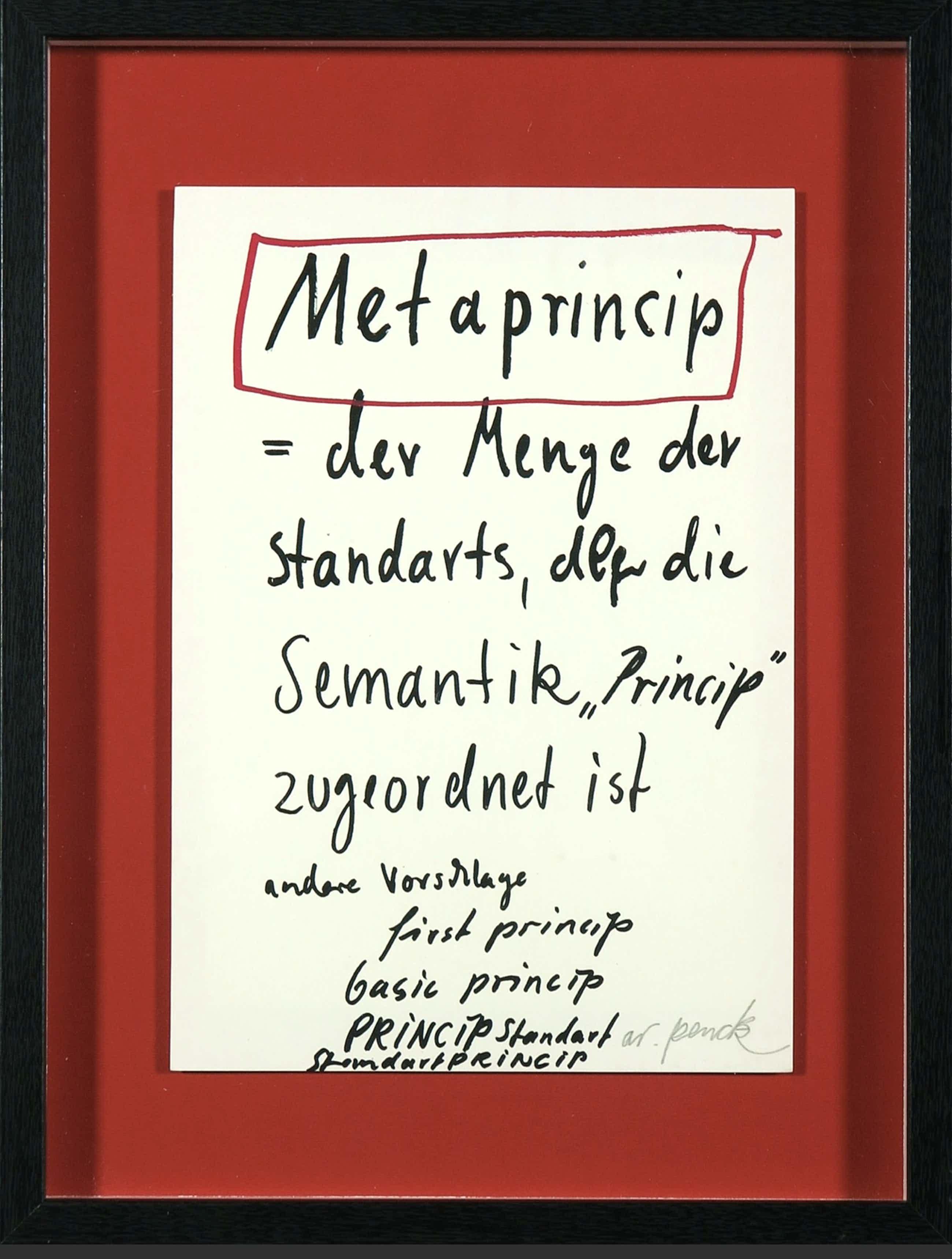 A.R. Penck - Metaprincip kopen? Bied vanaf 46!