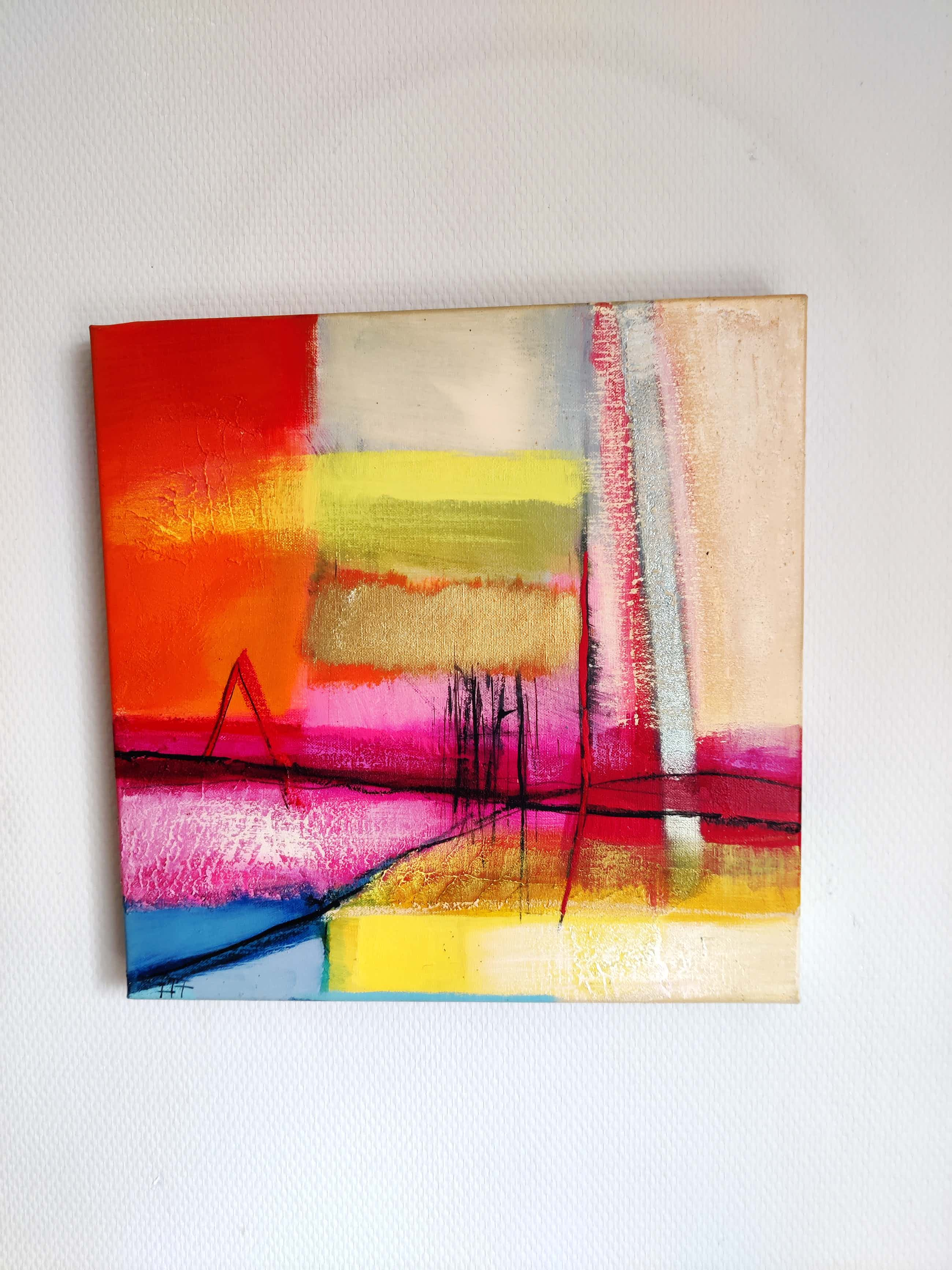 Heleen van der Tuin - 3 luik abstract kopen? Bied vanaf 300!