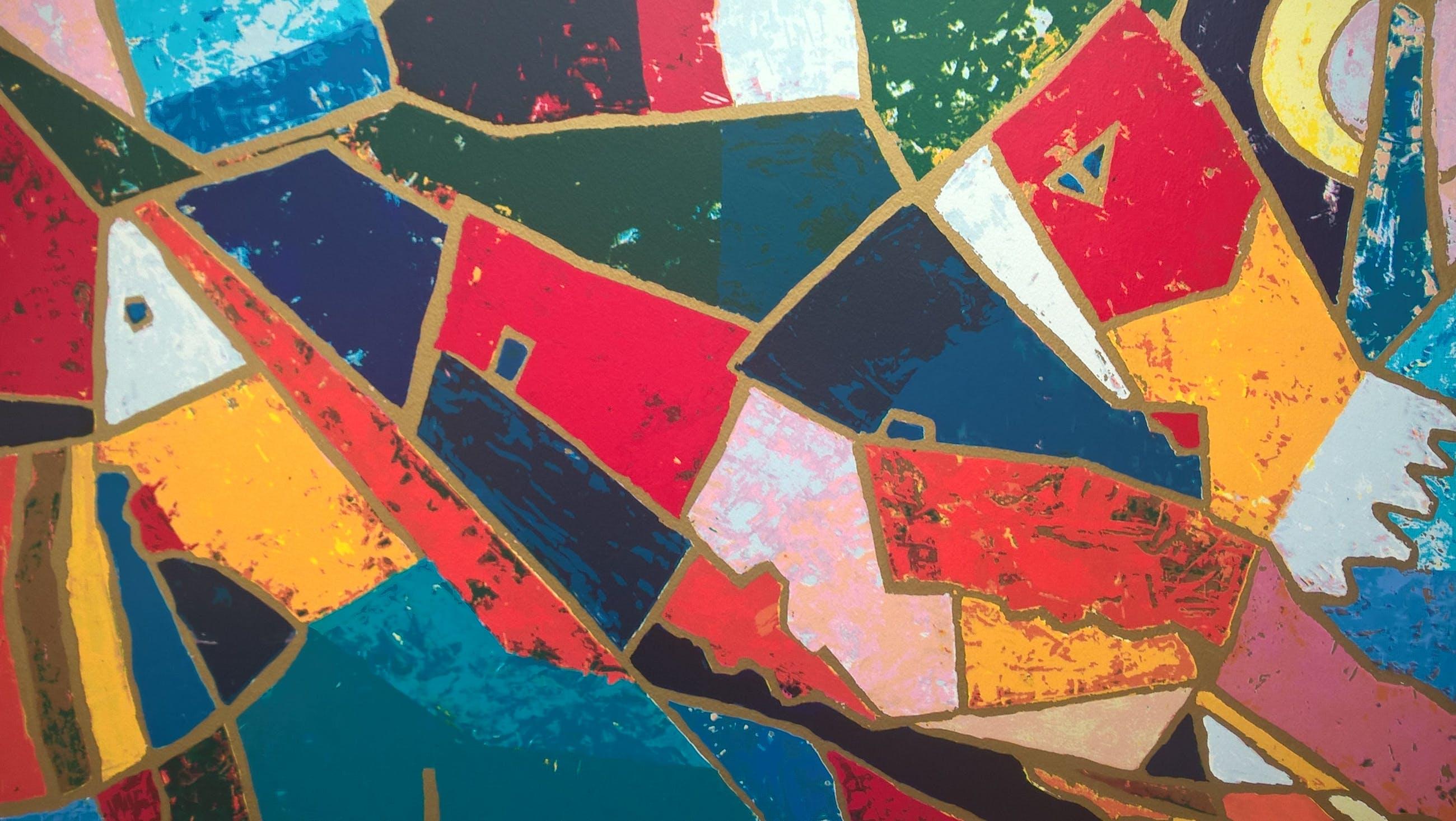 Theo Mackaay - gesigneerde kleuren zeefdruk kopen? Bied vanaf 95!