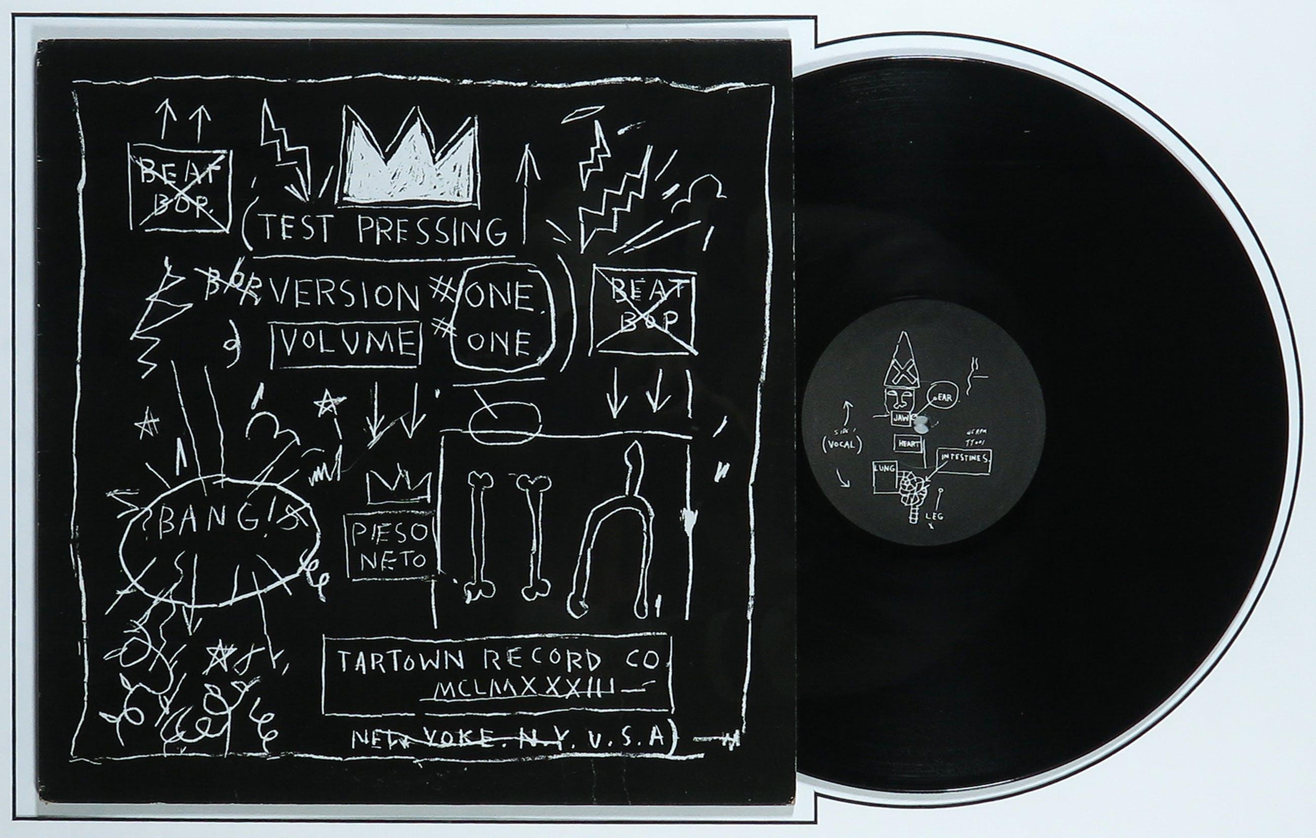 Jean-Michel Basquiat - LP-hoes, Rammellzee, K-Rob: Beat Bop - Ingelijst kopen? Bied vanaf 1!