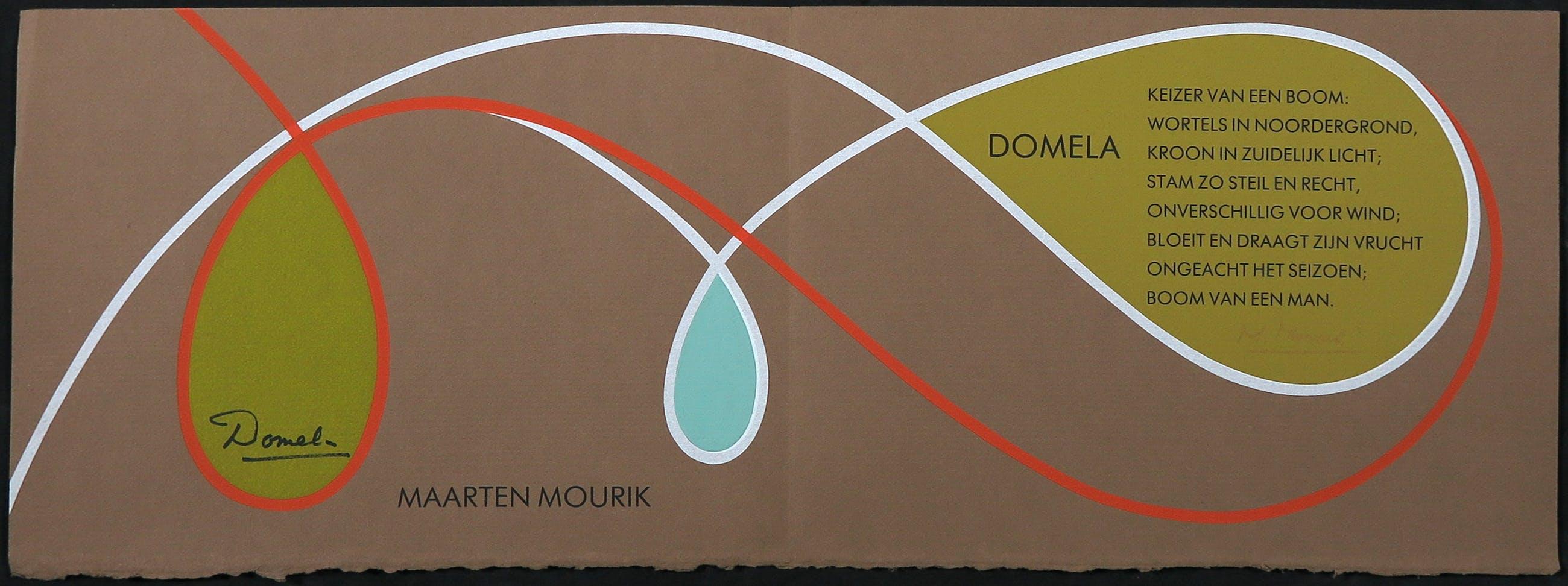 Cesar Domela - en Maarten Mourik - Lot van twee zeefdrukken en twee affiches kopen? Bied vanaf 1!