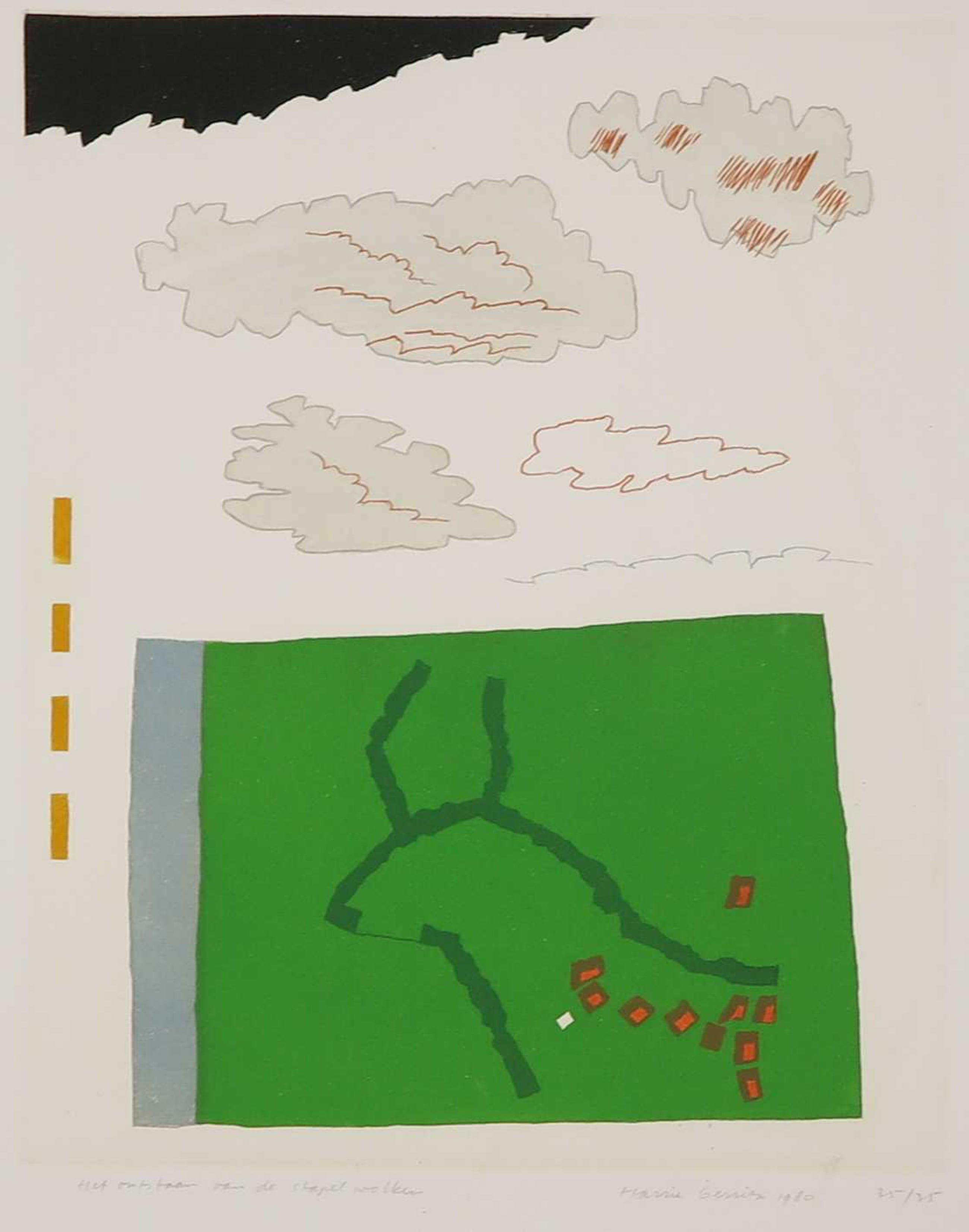 Harrie Gerritz - Litho, Het ontstaan van de stapelwolken kopen? Bied vanaf 10!