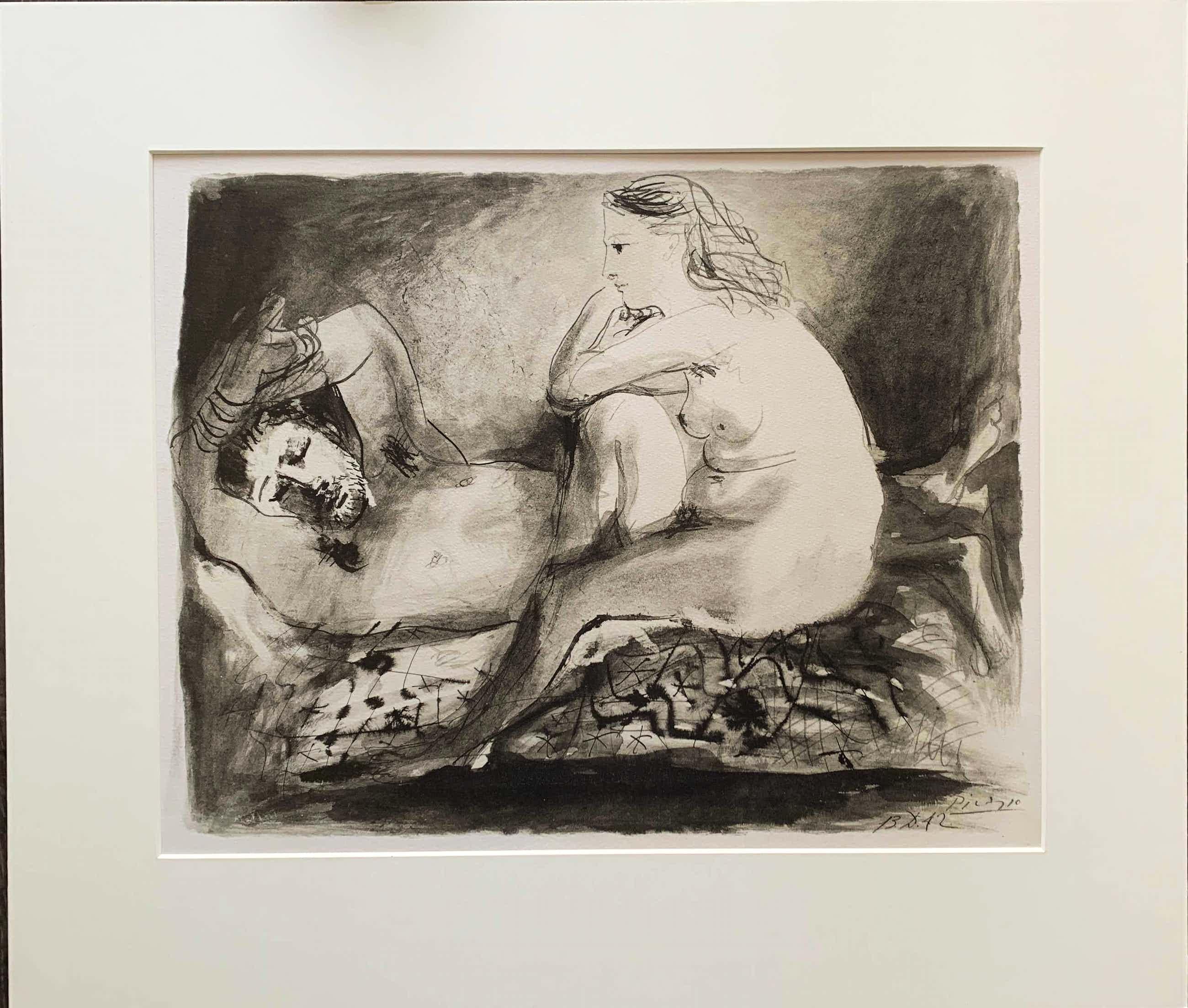 Pablo Picasso - Le dormeur (uit de serie femmes et faunes) kopen? Bied vanaf 305!