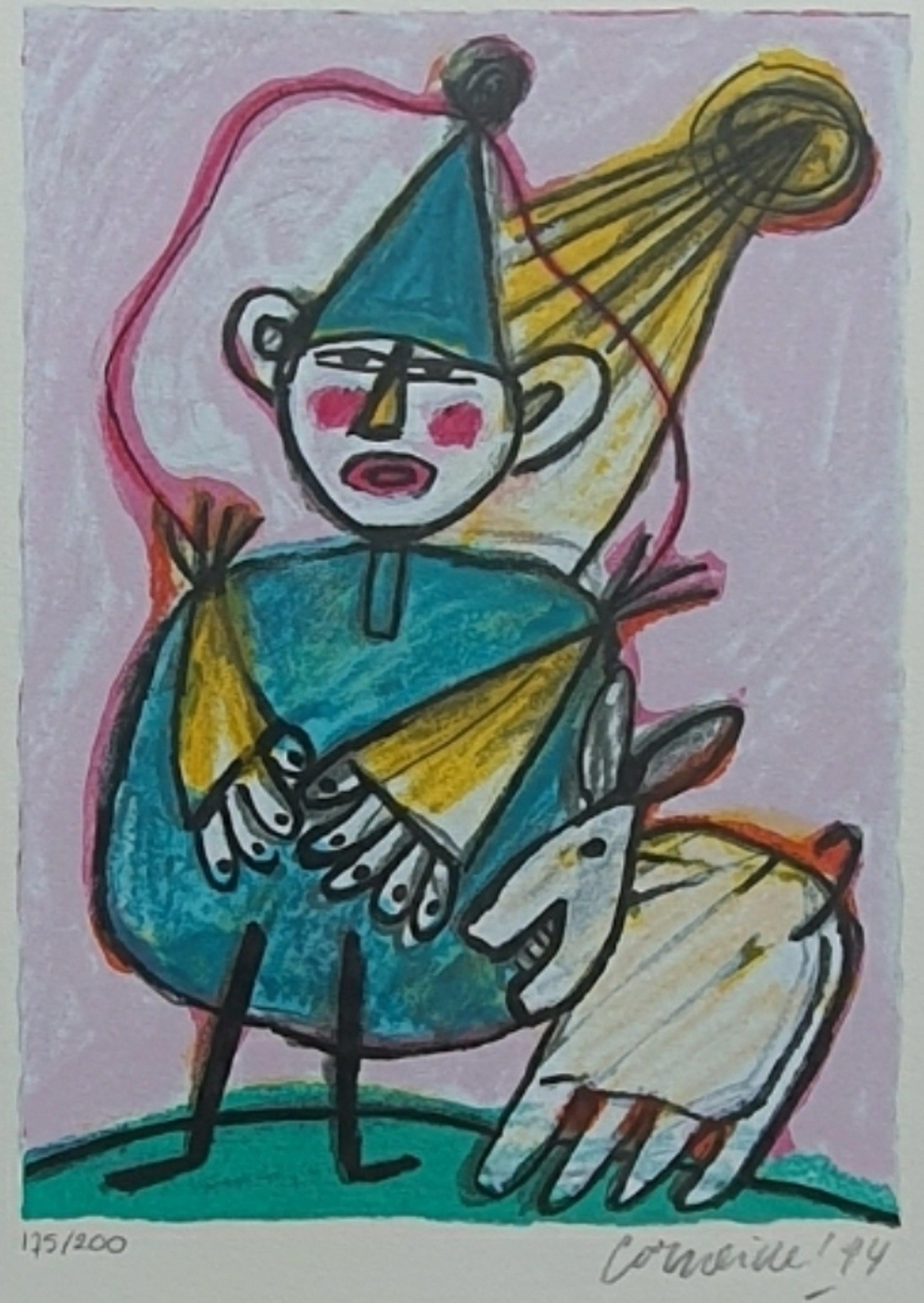 Corneille - Clown - gesigneerd - 200 ex - 1994 - ingelijst kopen? Bied vanaf 225!