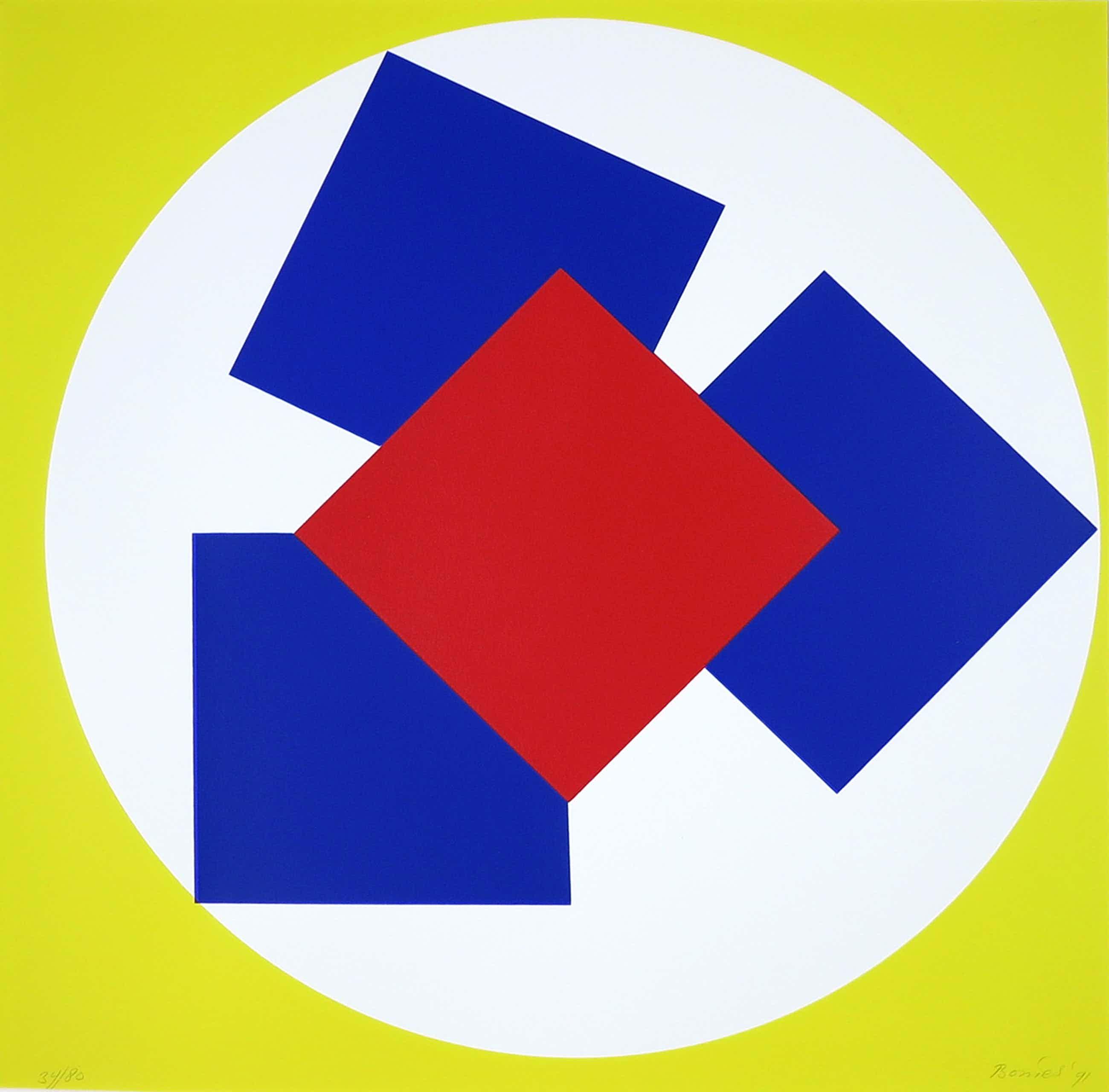 Bob Bonies - Zeefdruk, Z.t. Geometrisch Abstractie kopen? Bied vanaf 80!