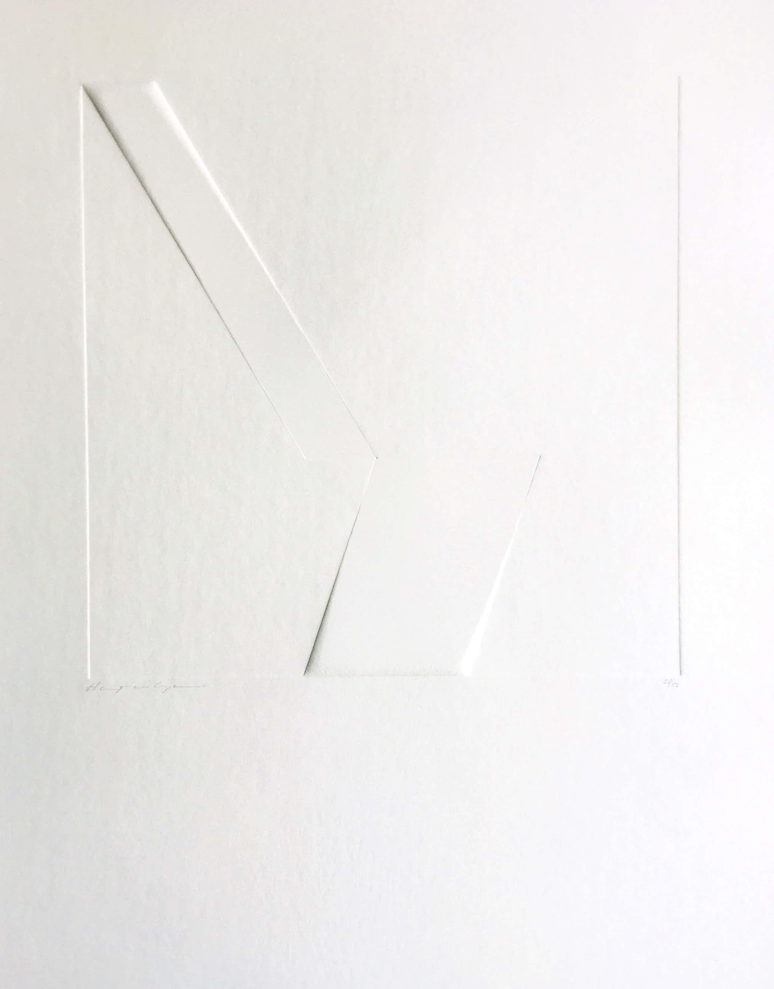 Harry van Kuyk - minimalistische diepdruk - 1973 - ZERO. kopen? Bied vanaf 275!