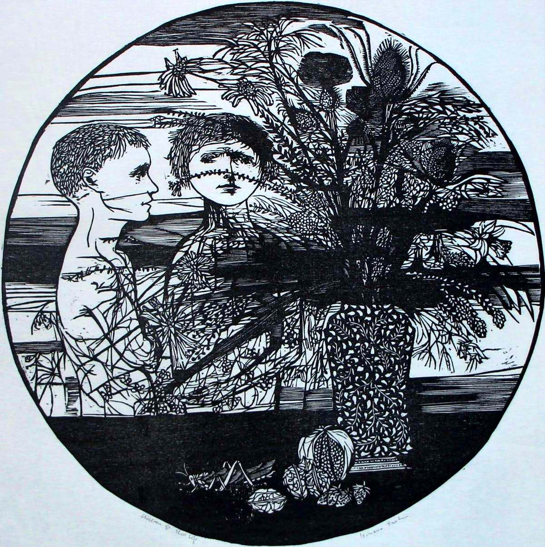 Leonard Baskin - houtsnede:children still life-1956 kopen? Bied vanaf 110!