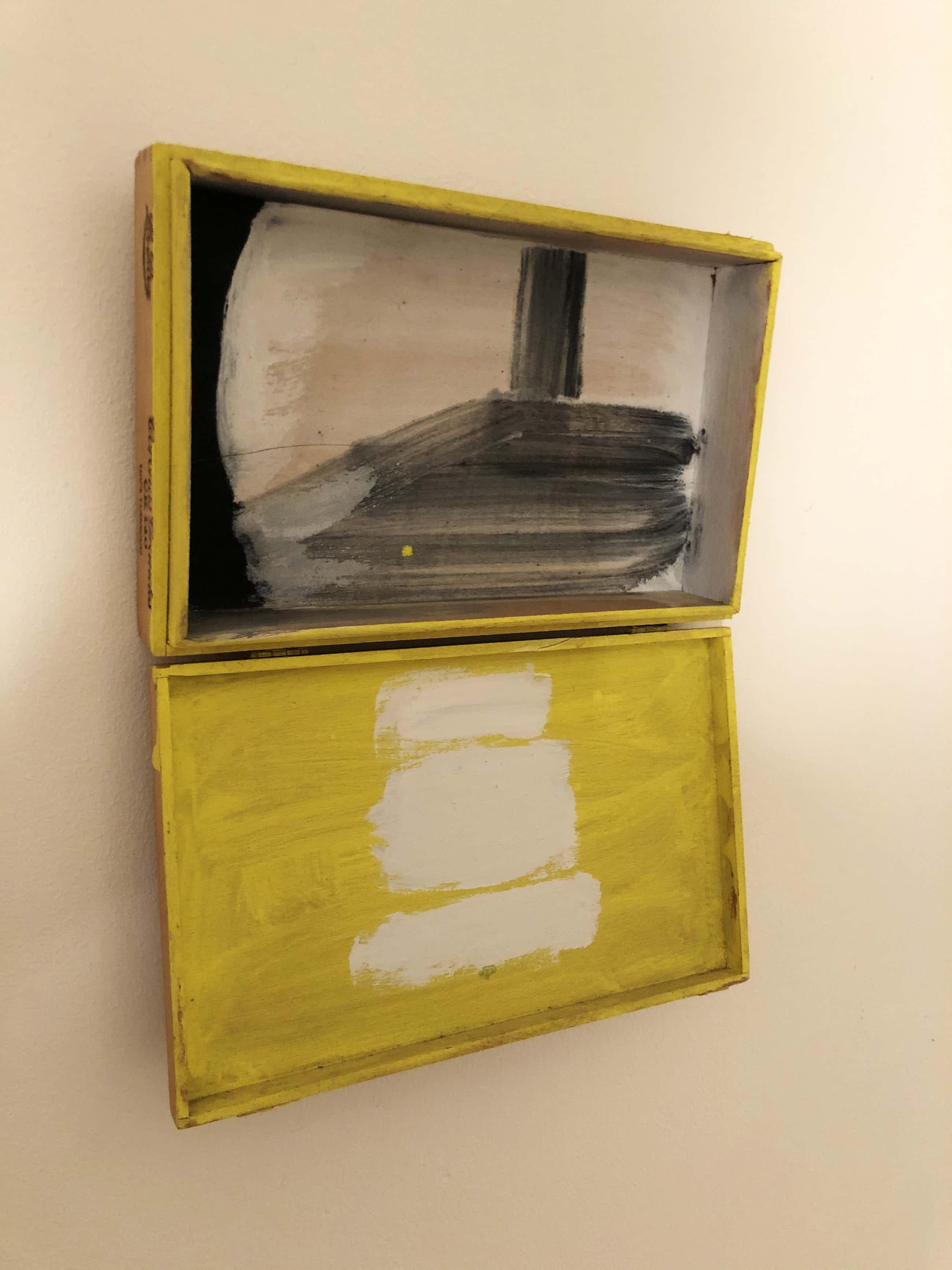 Leon Adriaans - Beschilderd sigarenkistje kopen? Bied vanaf 550!