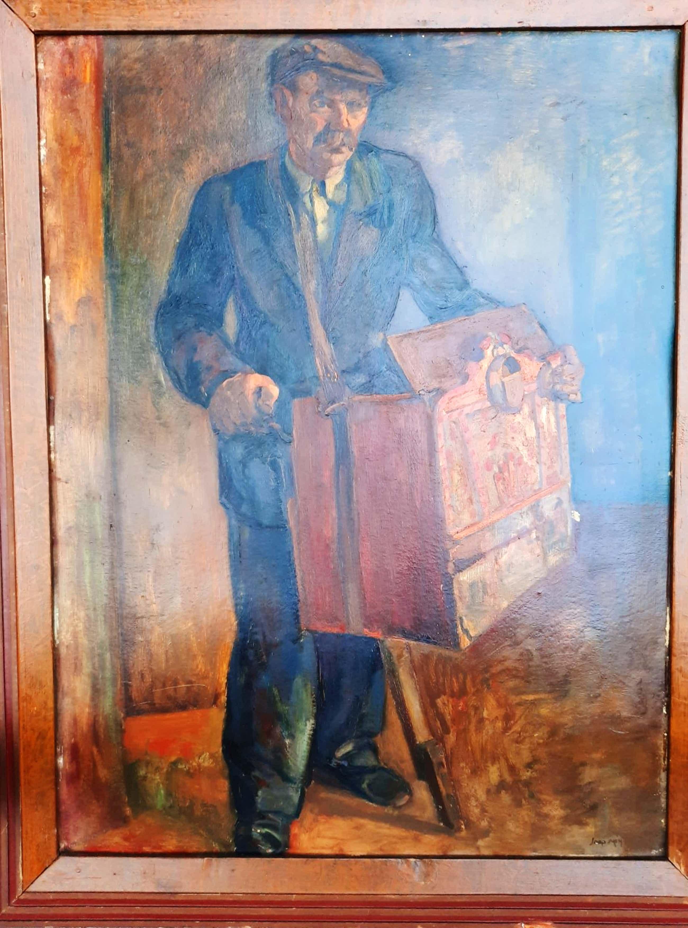 Jaap Min - Jaap Min (1914-1987) - Man met orgel kopen? Bied vanaf 210!