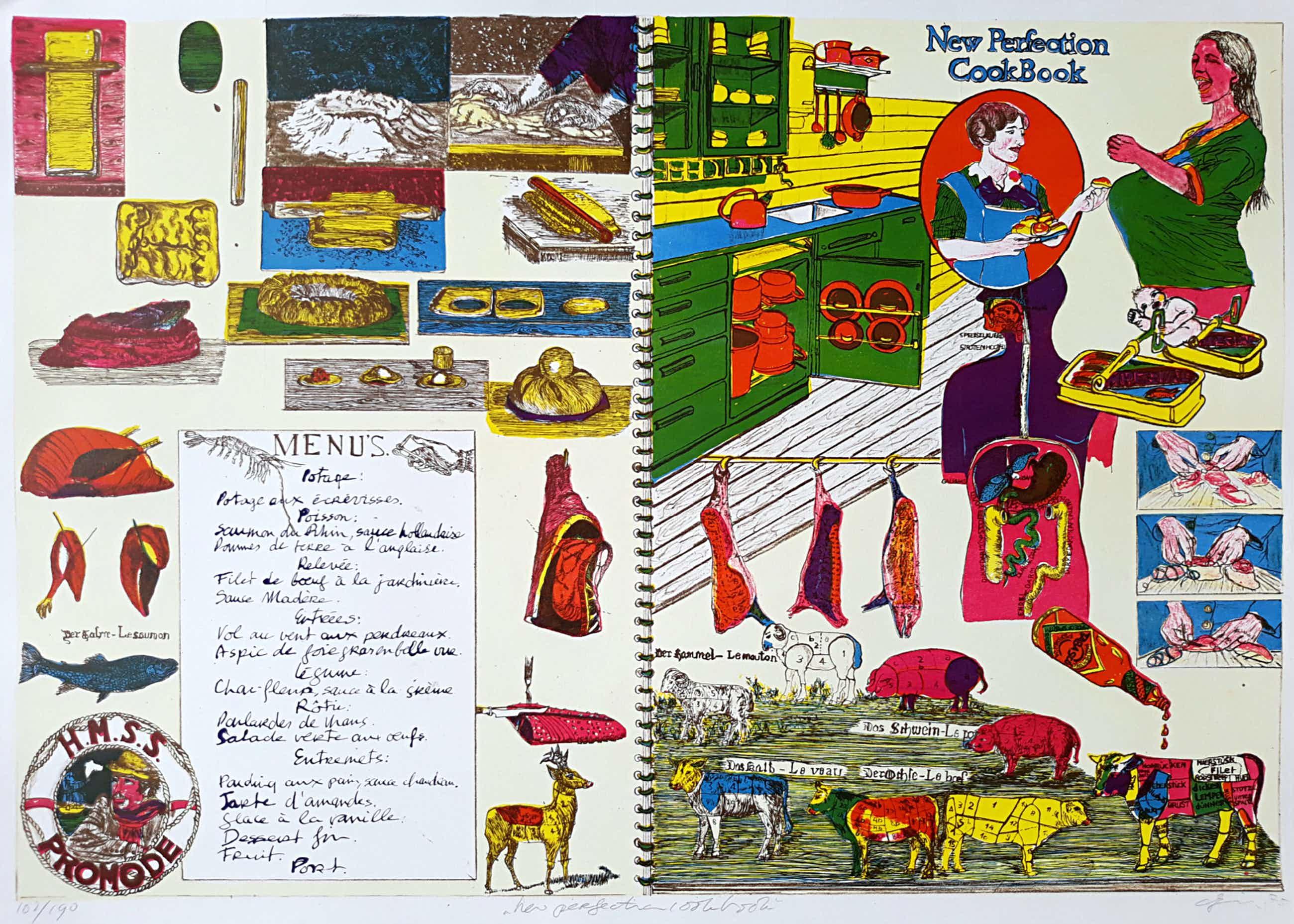 Jacqueline de Jong - New Perfection Cookbook, litho kopen? Bied vanaf 45!