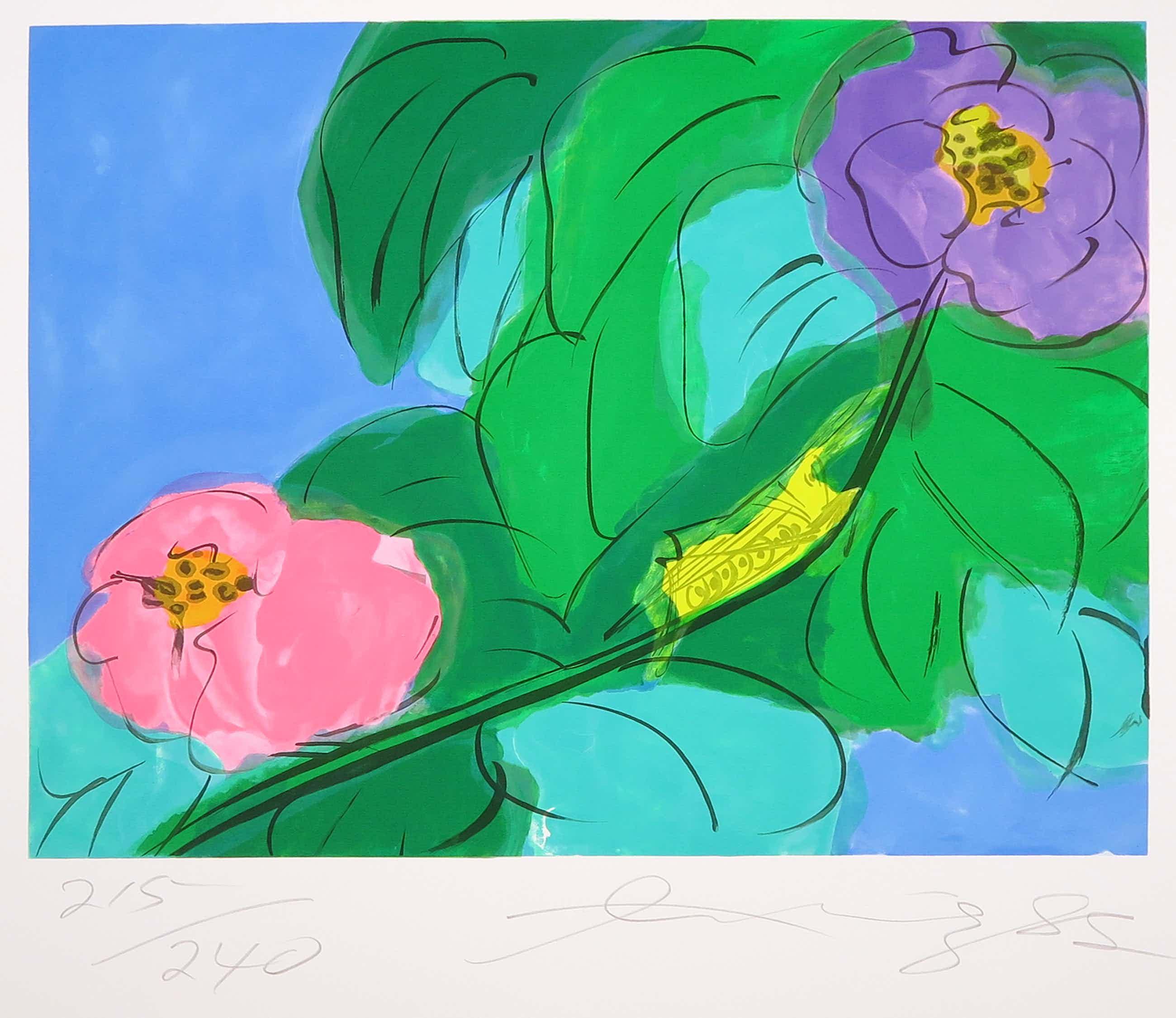 Walasse Ting - Litho, Bloemen met sprinkhaan kopen? Bied vanaf 300!