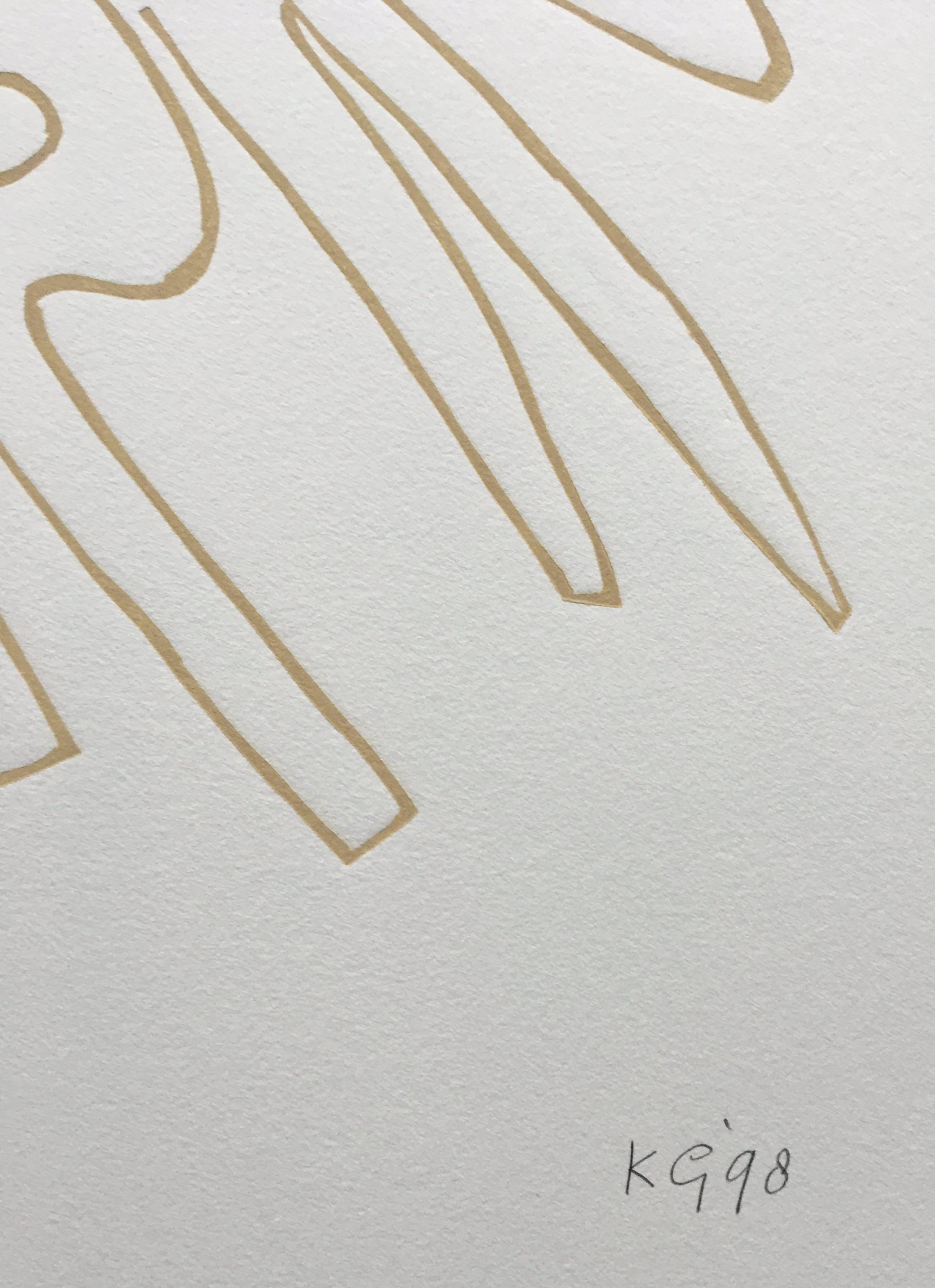Klaas Gubbels - linosnede uit 1998 - oplage 125. kopen? Bied vanaf 195!