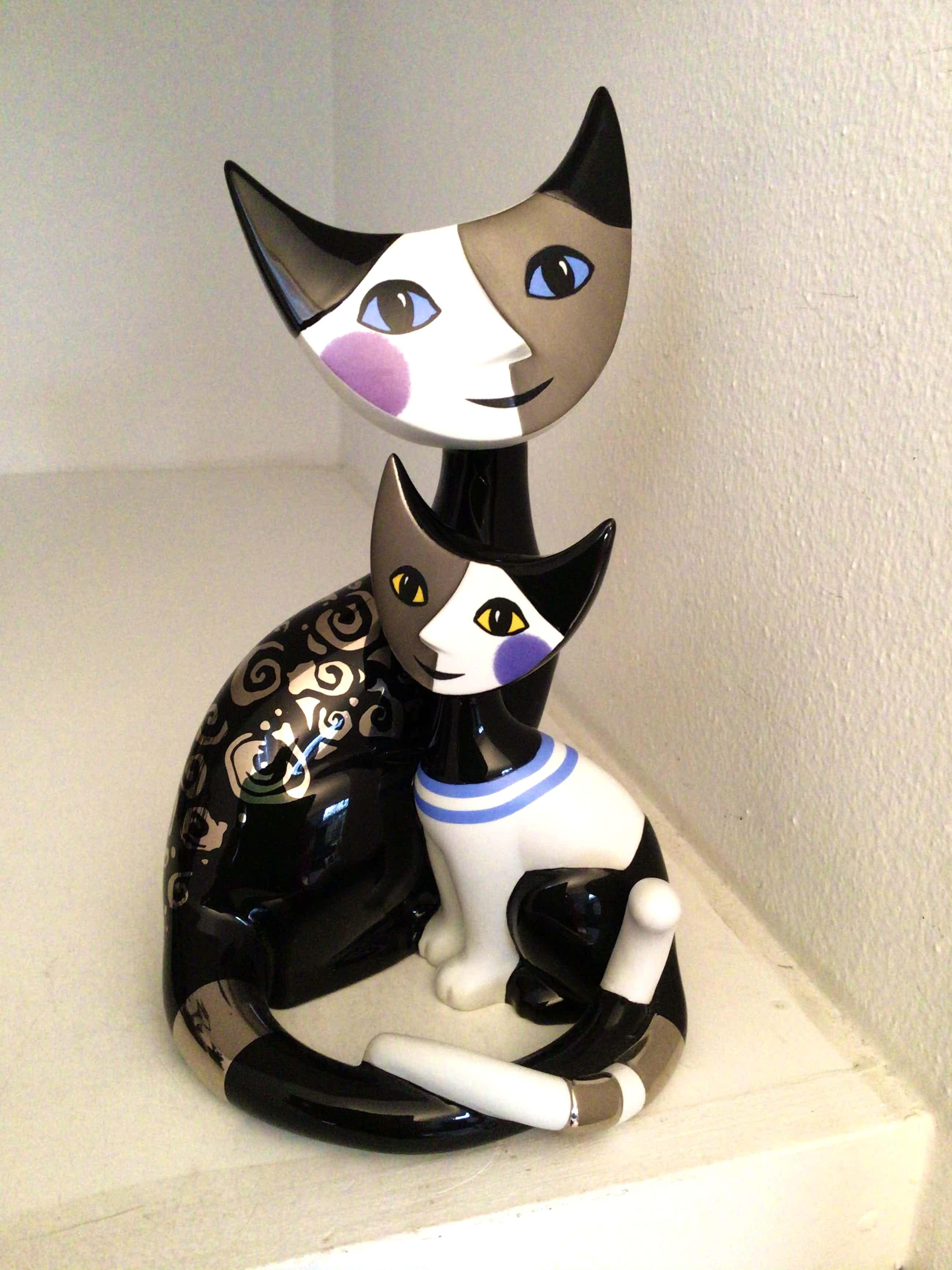 """Rosina Wachtmeister - Kattenbeeld """" Ricario en Marica """" kopen? Bied vanaf 95!"""