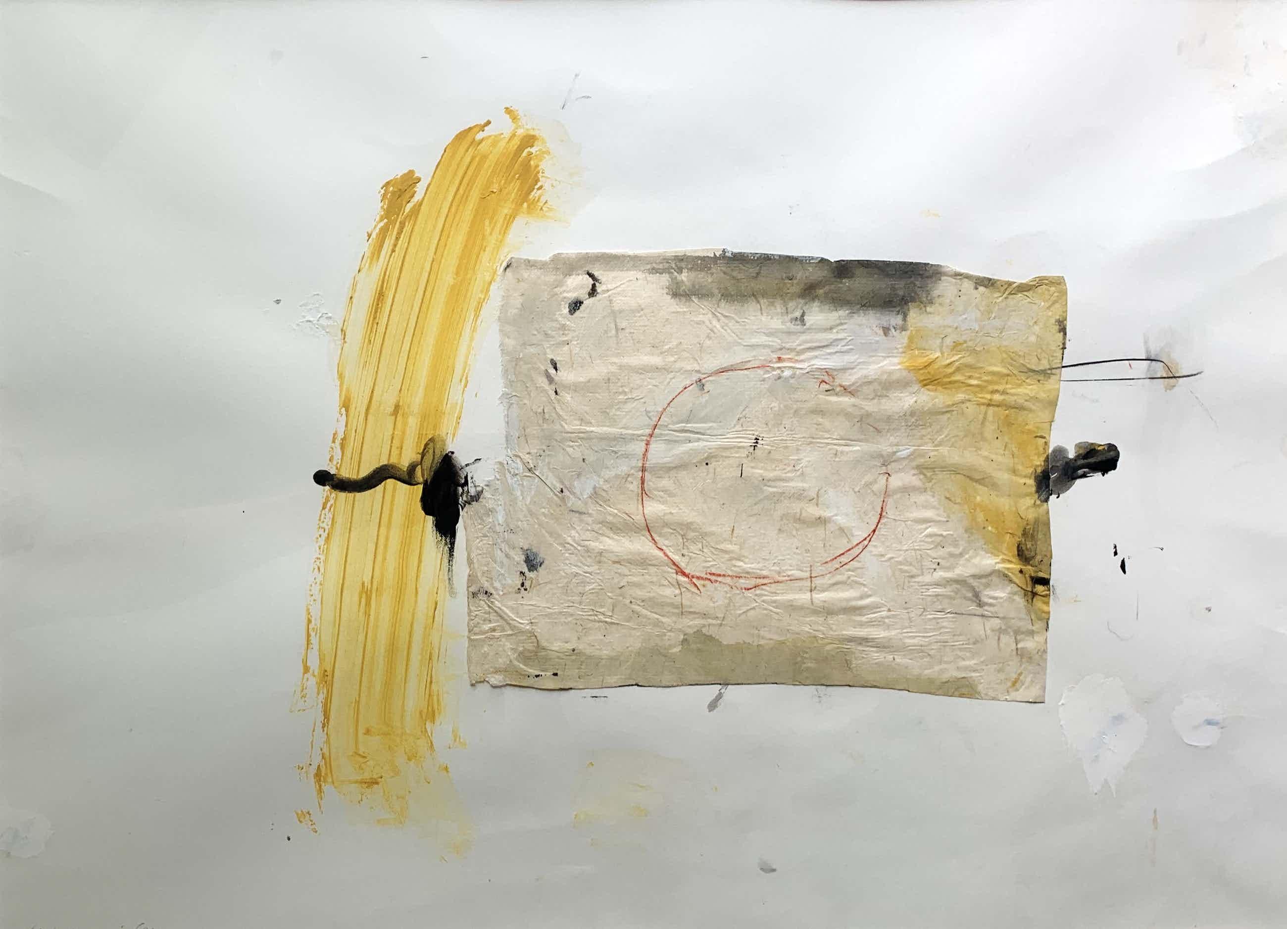 Otto Hetterscheid - gemengde techniek op papier | 'Zonder titel' | 1986 kopen? Bied vanaf 175!