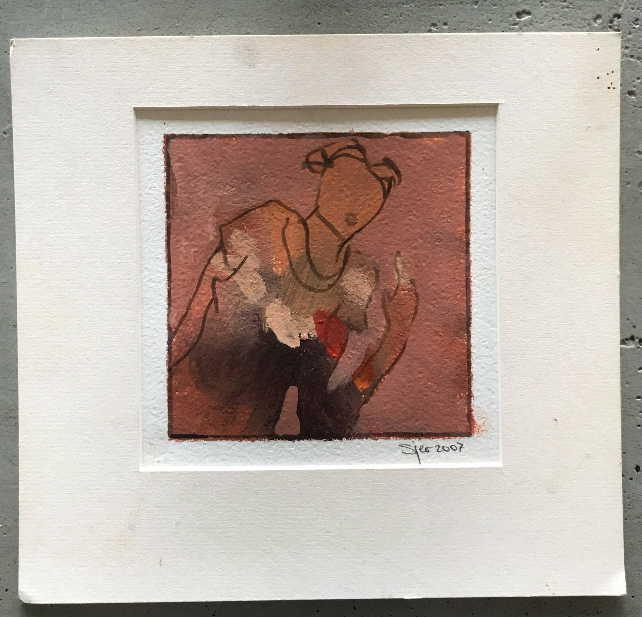Sjer Jacobs - mooi klein schilderwerk - zonder titel kopen? Bied vanaf 80!