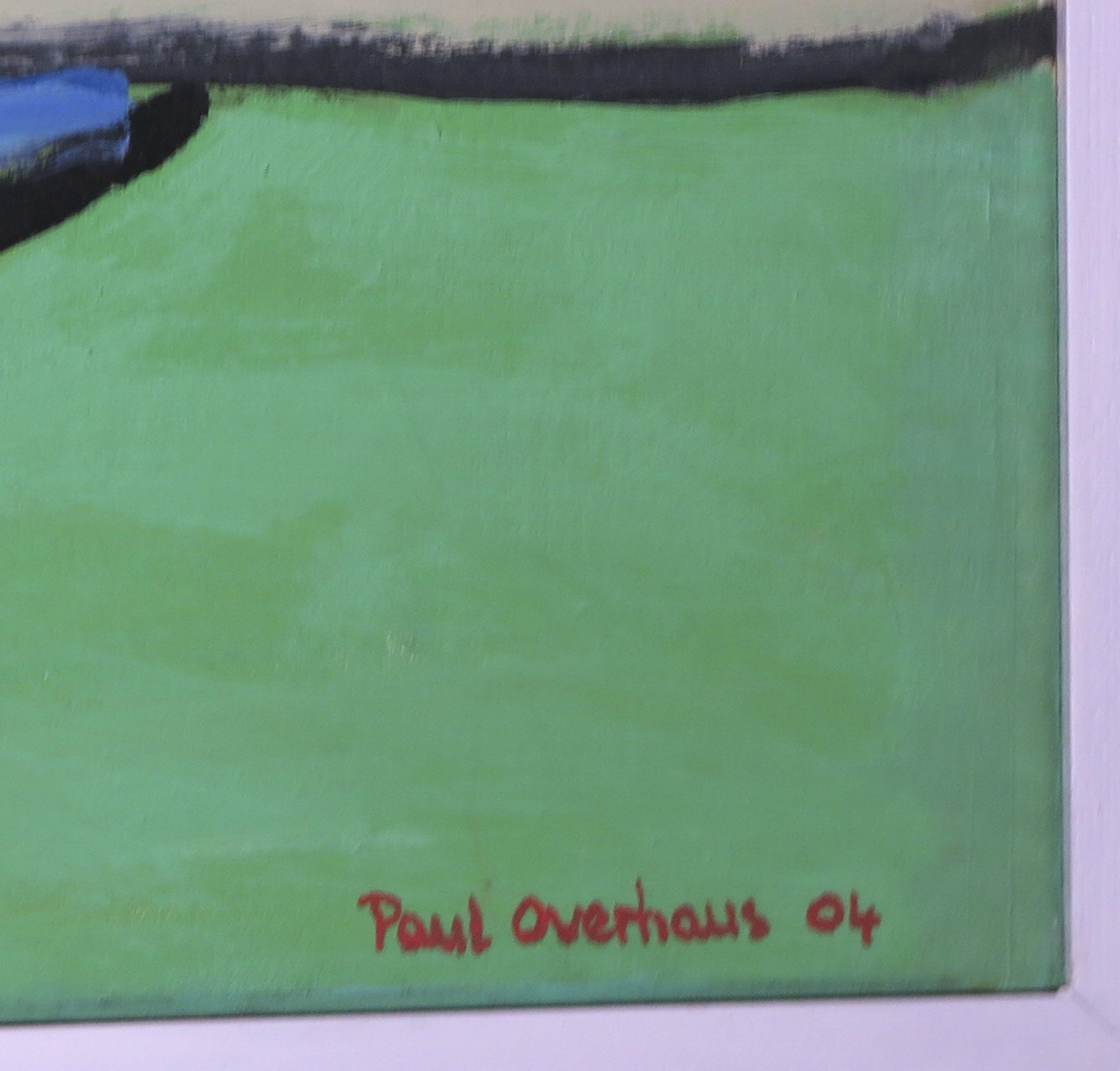 Paul Overhaus - Olieverf op doek, Gele wolk - Ingelijst (Zeer groot) kopen? Bied vanaf 300!