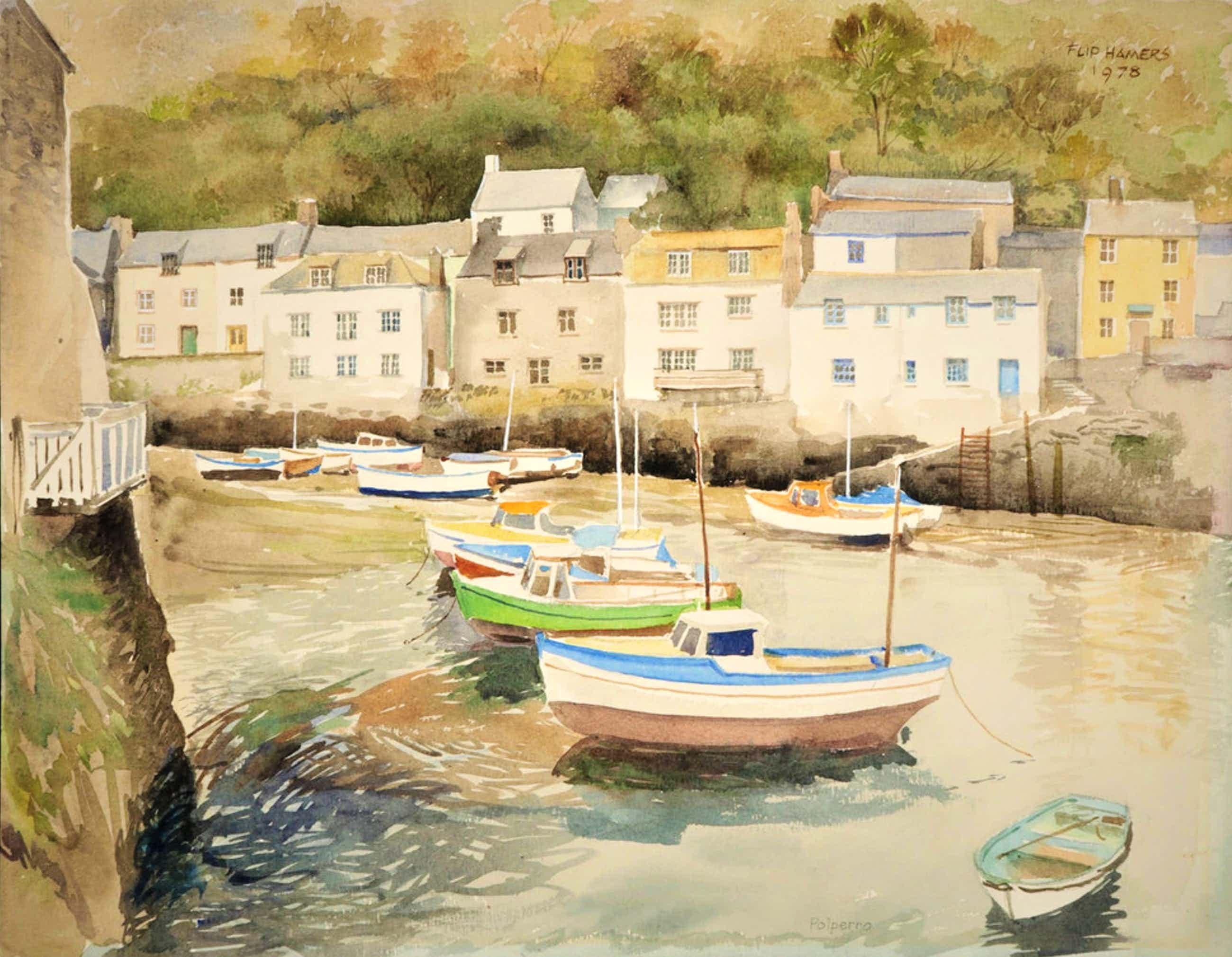 Flip Hamers - Polperro - Harbour Cornwall England kopen? Bied vanaf 70!