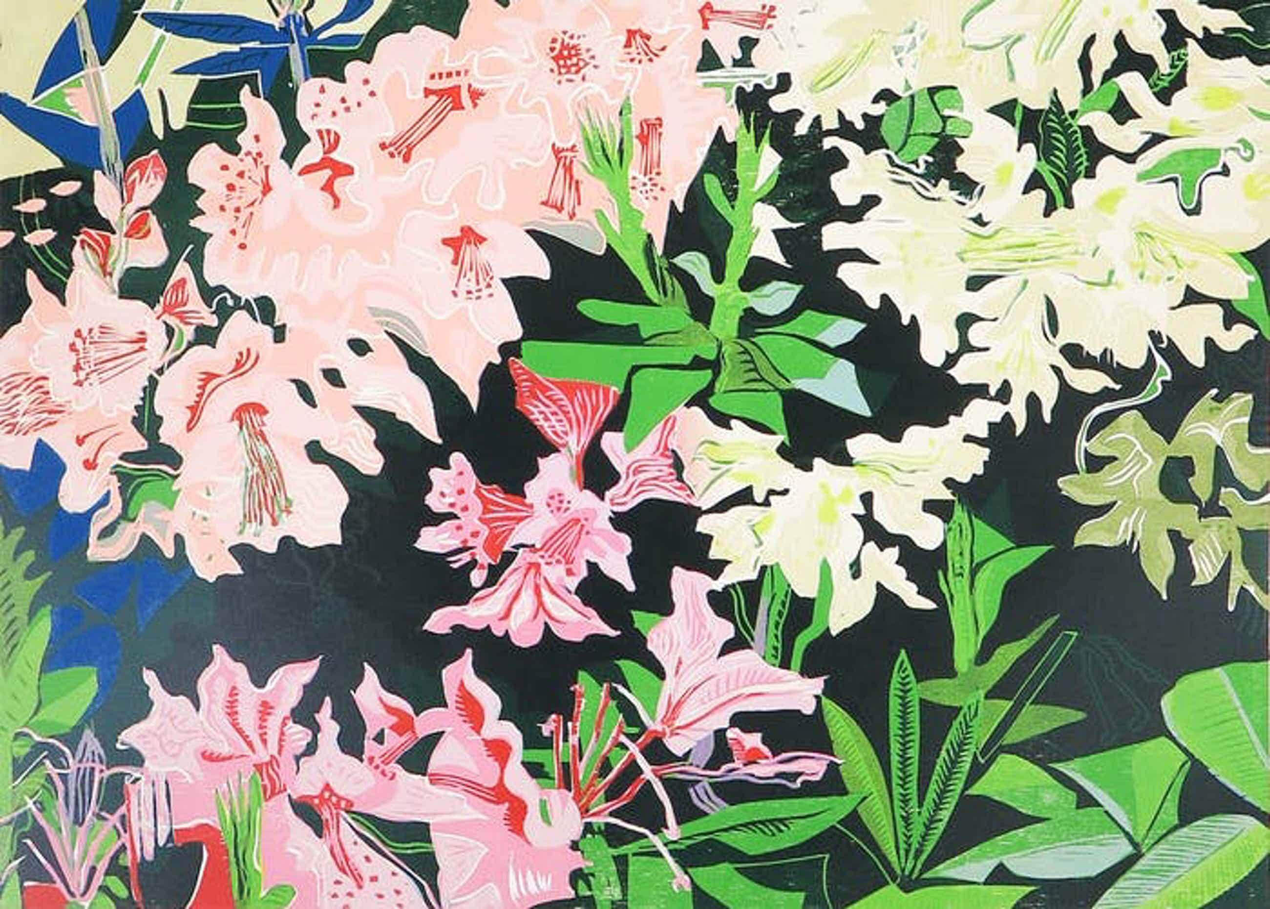 Vincent van Ojen - Houtsnede, Rhododendron kopen? Bied vanaf 45!