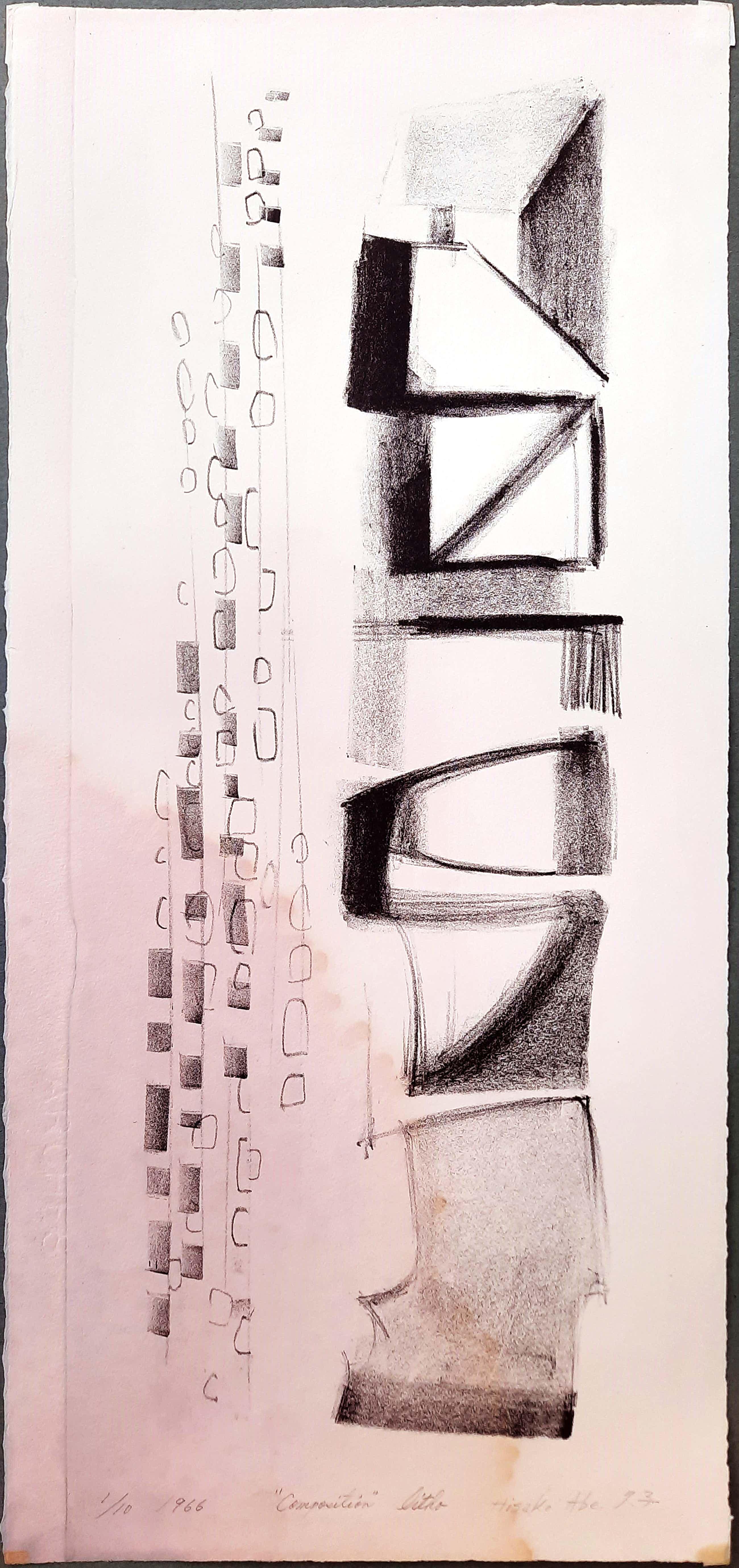 Hisako Viruly Abe - abstracte steendruk - Composition 1/10 kopen? Bied vanaf 1!