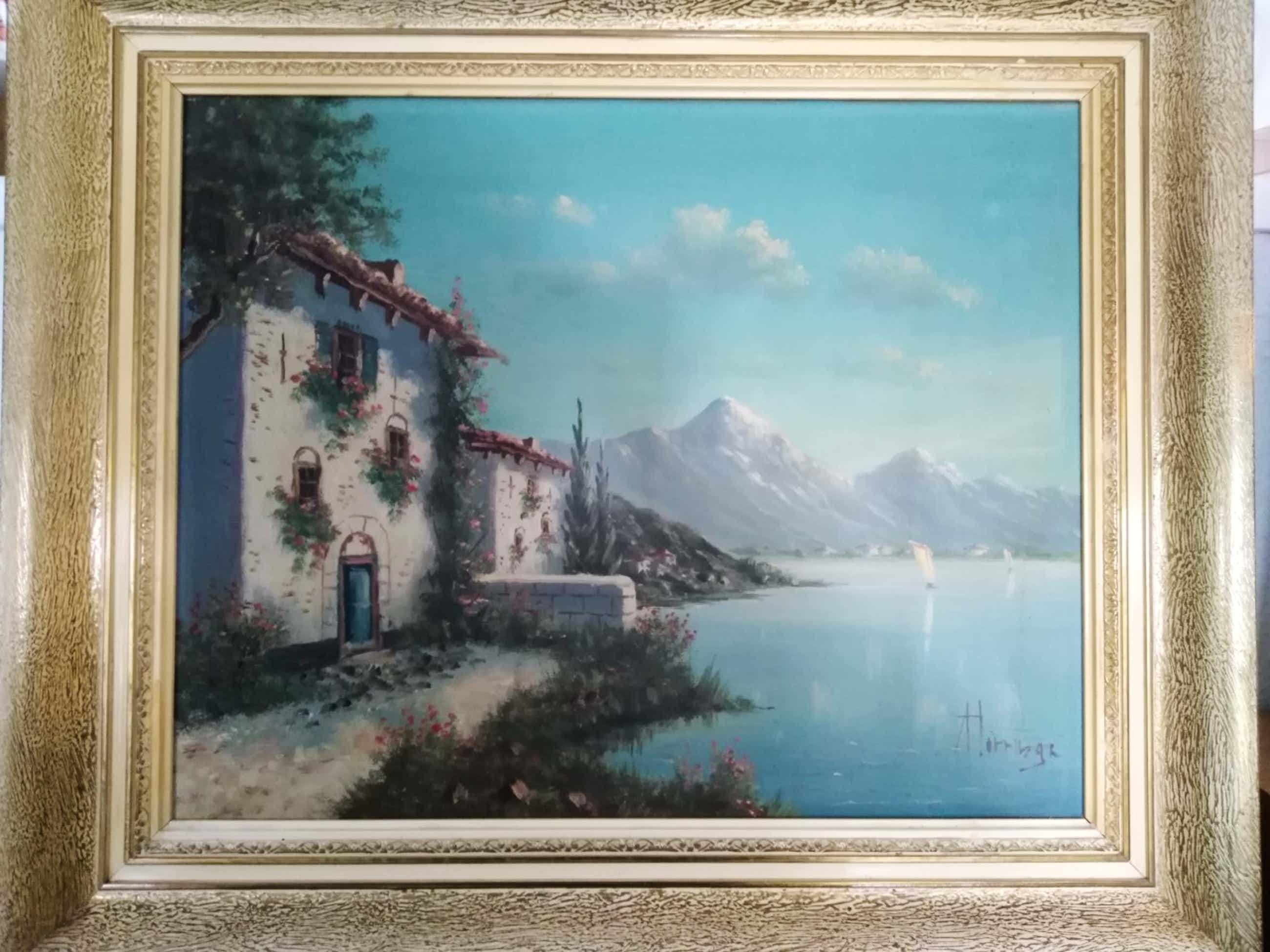 Albert Torringa - Huis omringd met bloemen tussen bergen en zee. kopen? Bied vanaf 28!