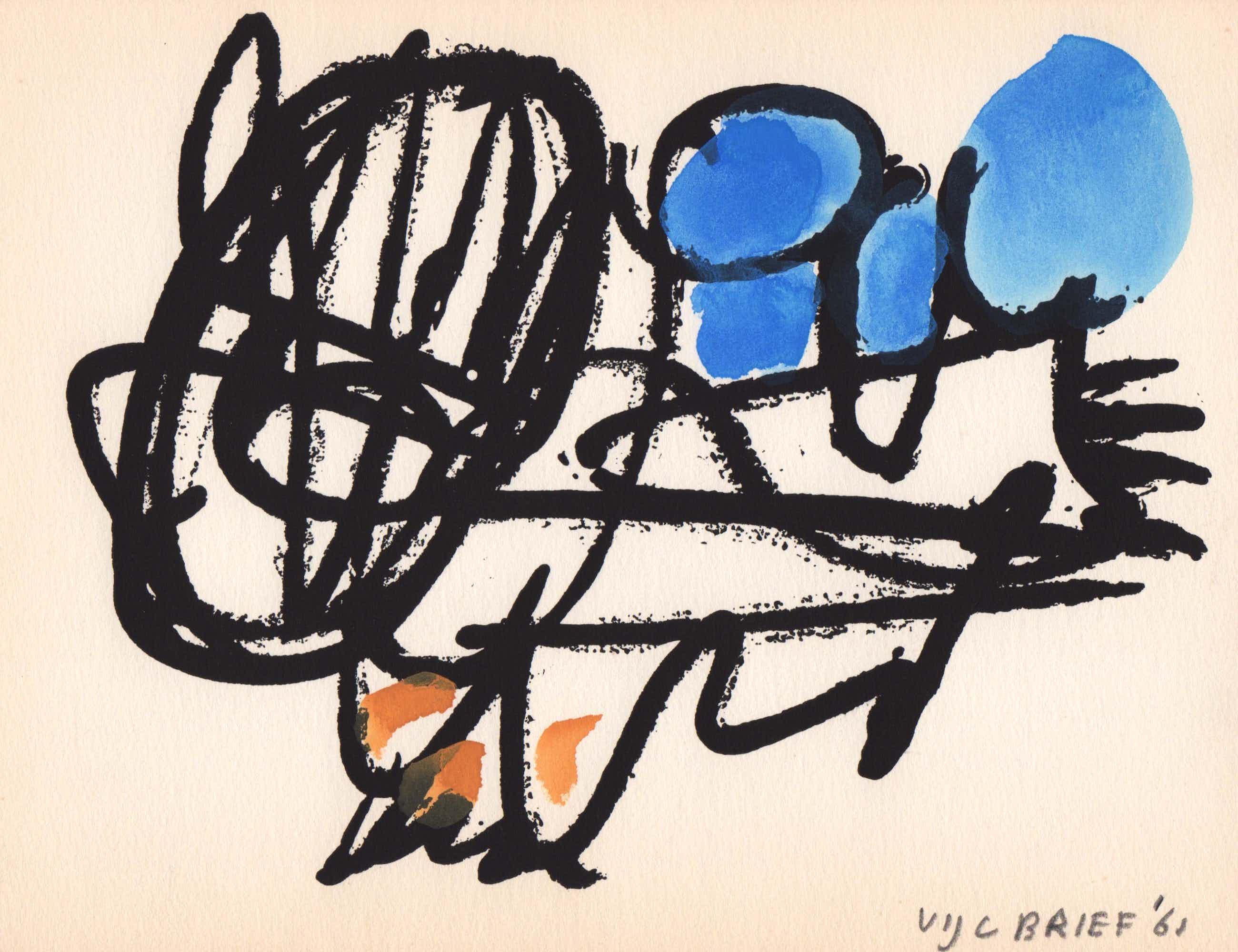 Ernst Vijlbrief - gemengde techniek, 1961, 'Spel en Nederlaag' kopen? Bied vanaf 69!