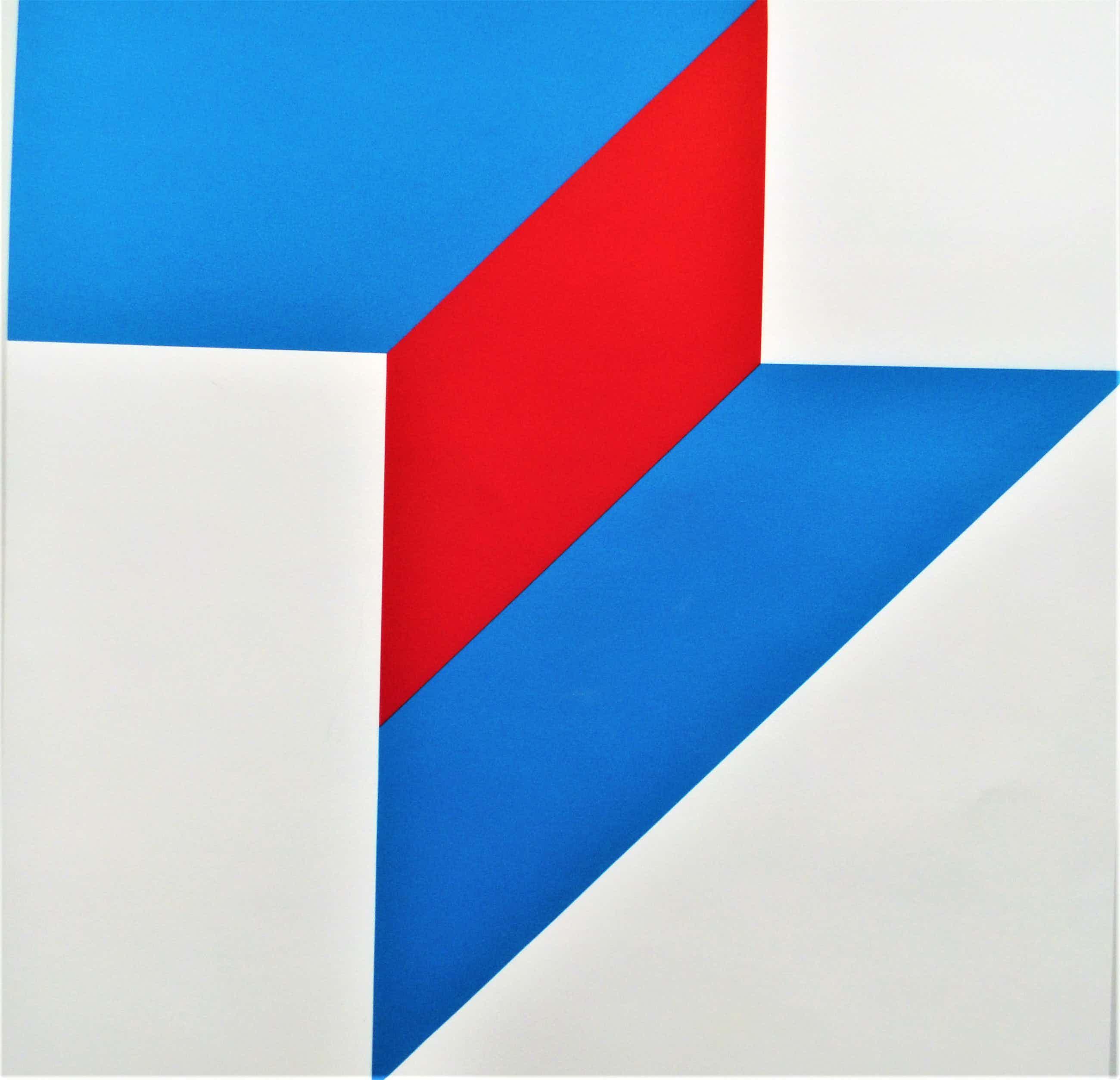 Bob Bonies - Abstract Blauw rood kopen? Bied vanaf 95!