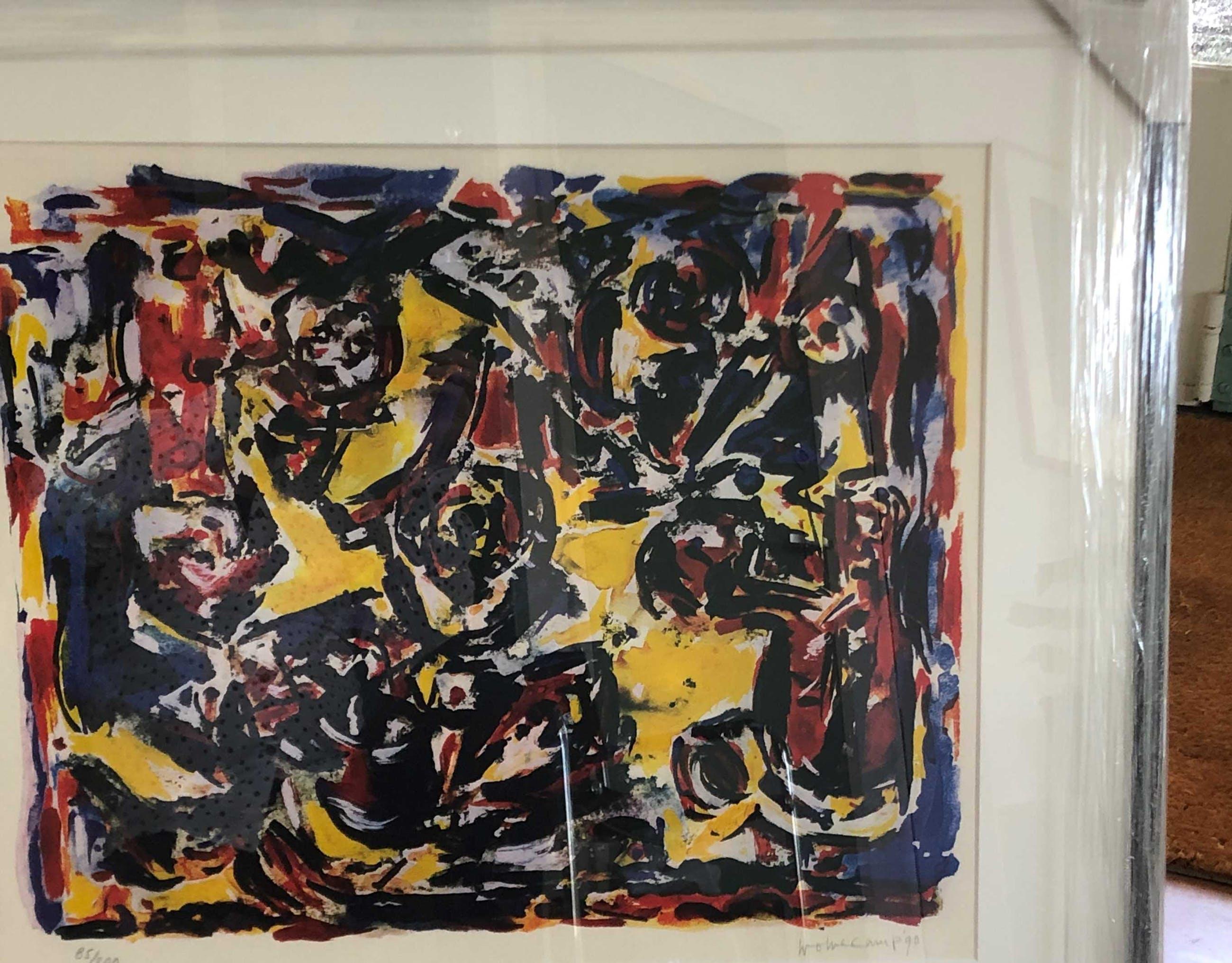 Theo Wolvecamp - Abstracte compositie met lijst kopen? Bied vanaf 220!