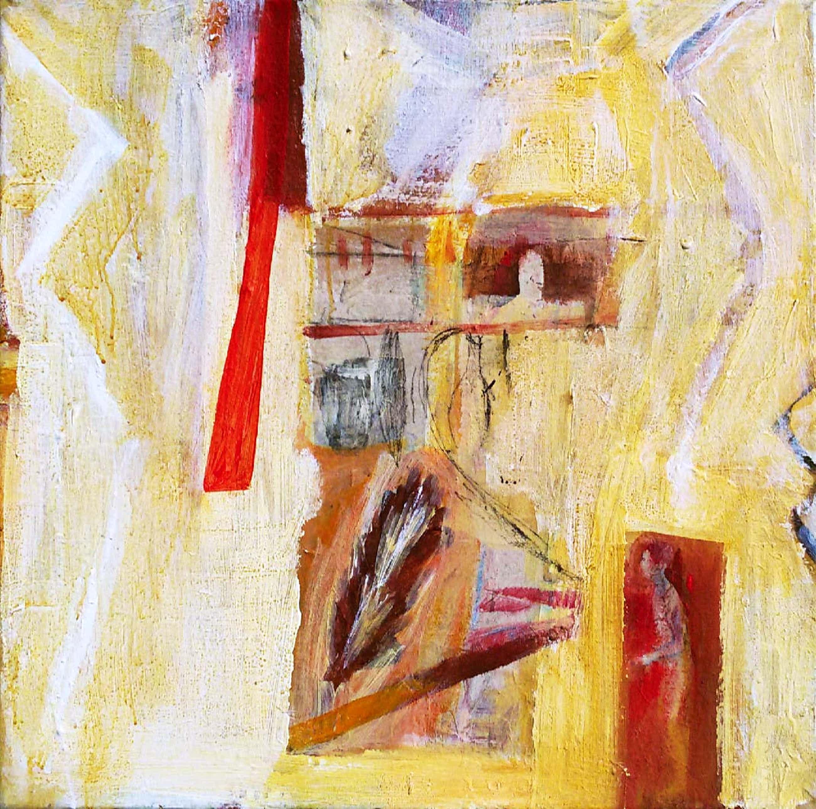 Jasper Krabbe - Semi-abstracte compositie, gemengde techniek op doek kopen? Bied vanaf 520!