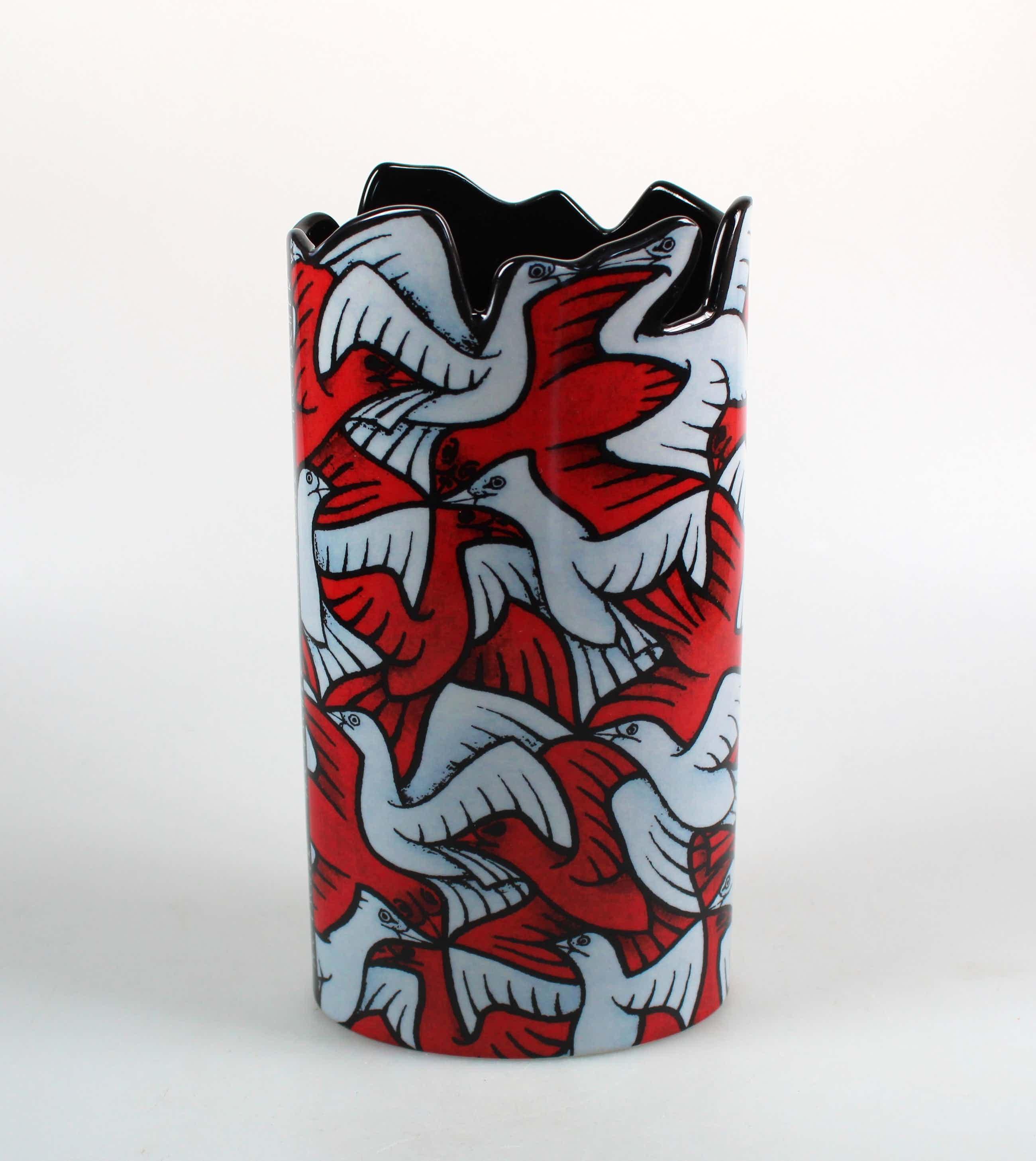 M.C. Escher - Beswick Silhouette d'Art vaas vogels kopen? Bied vanaf 40!