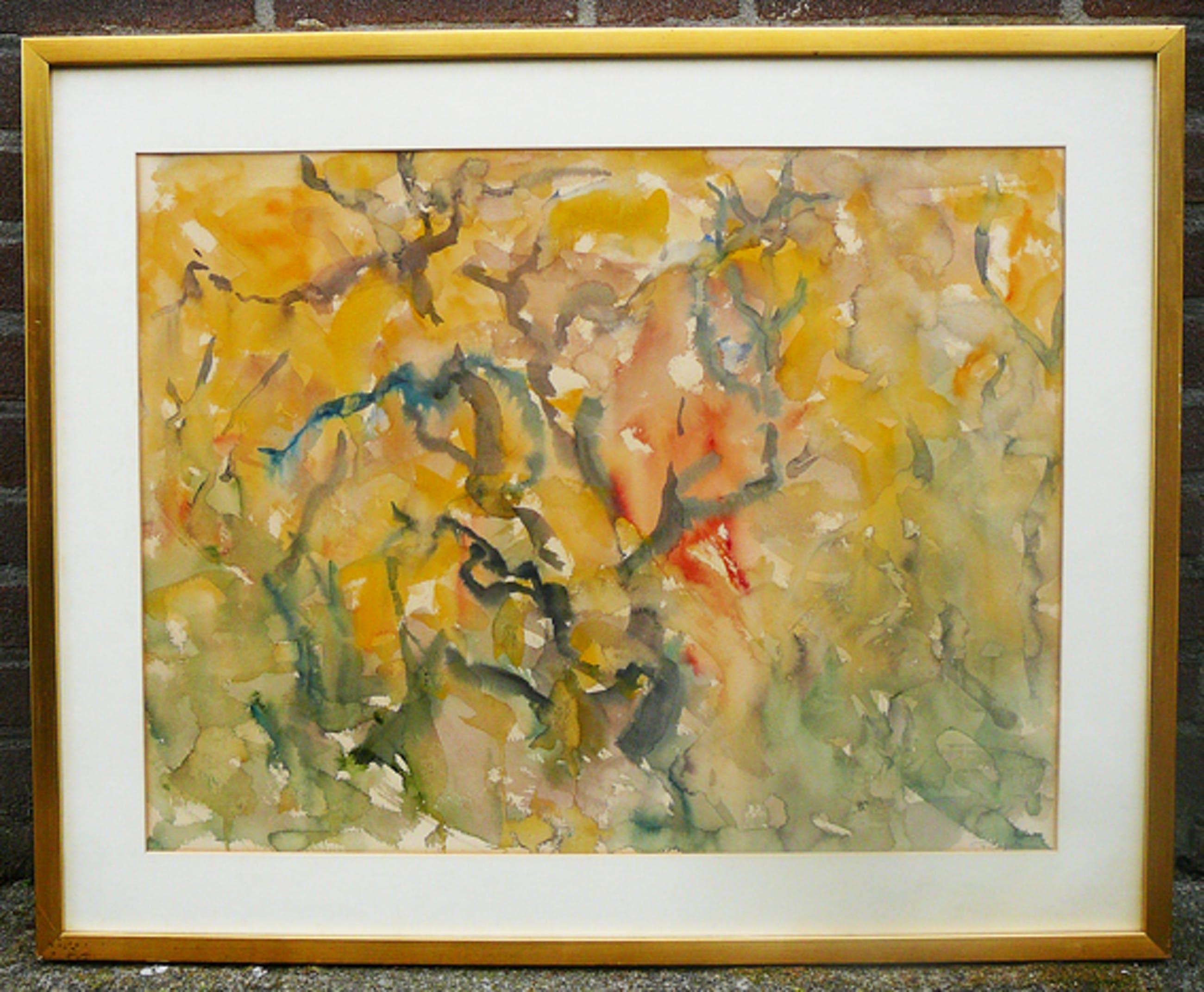 Yves Rouvre - Paysage -aquarel circa 1980- kopen? Bied vanaf 10!