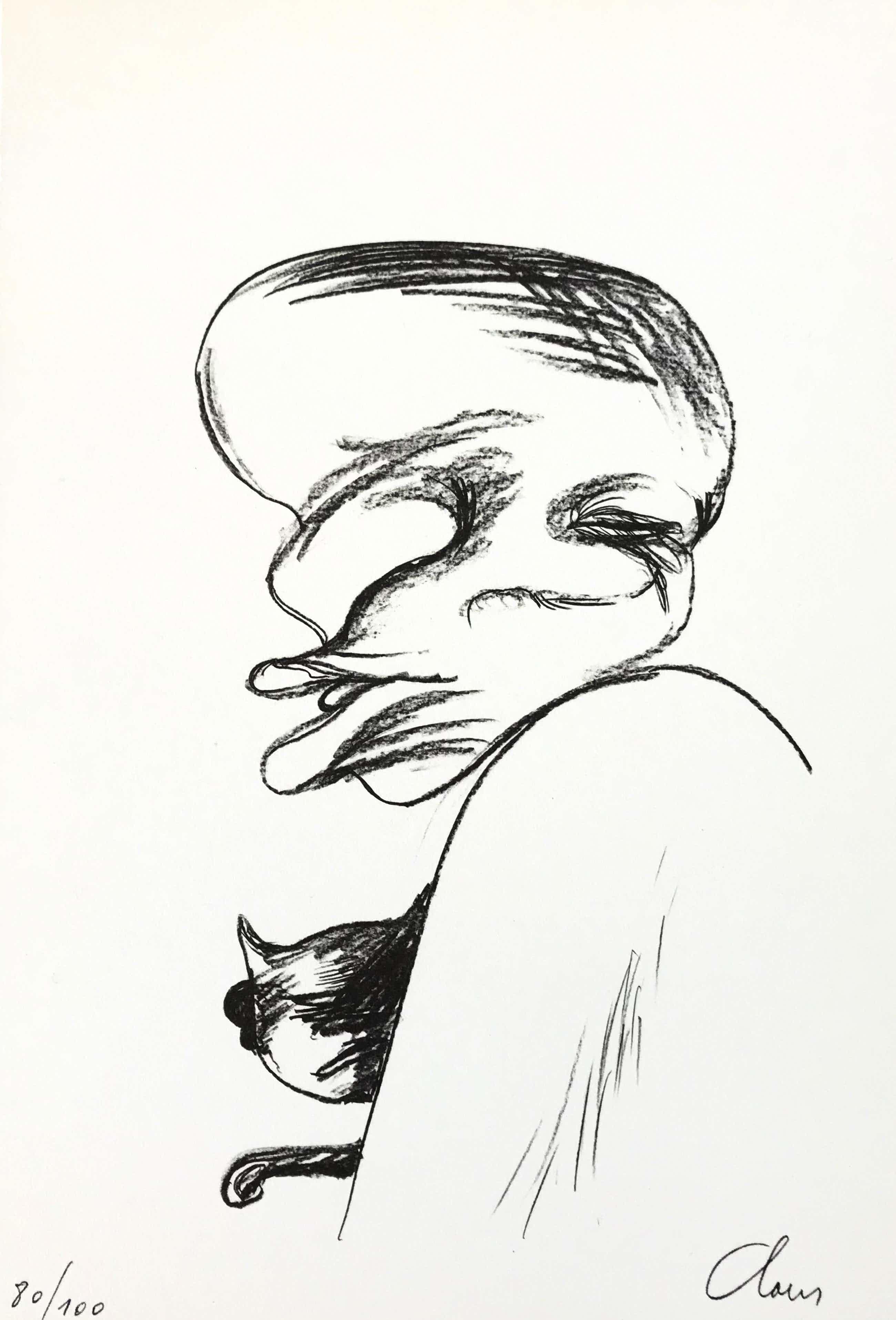 Hugo Claus - Litho + gesigneerde kunstmap - 1978 - 80/100 kopen? Bied vanaf 115!