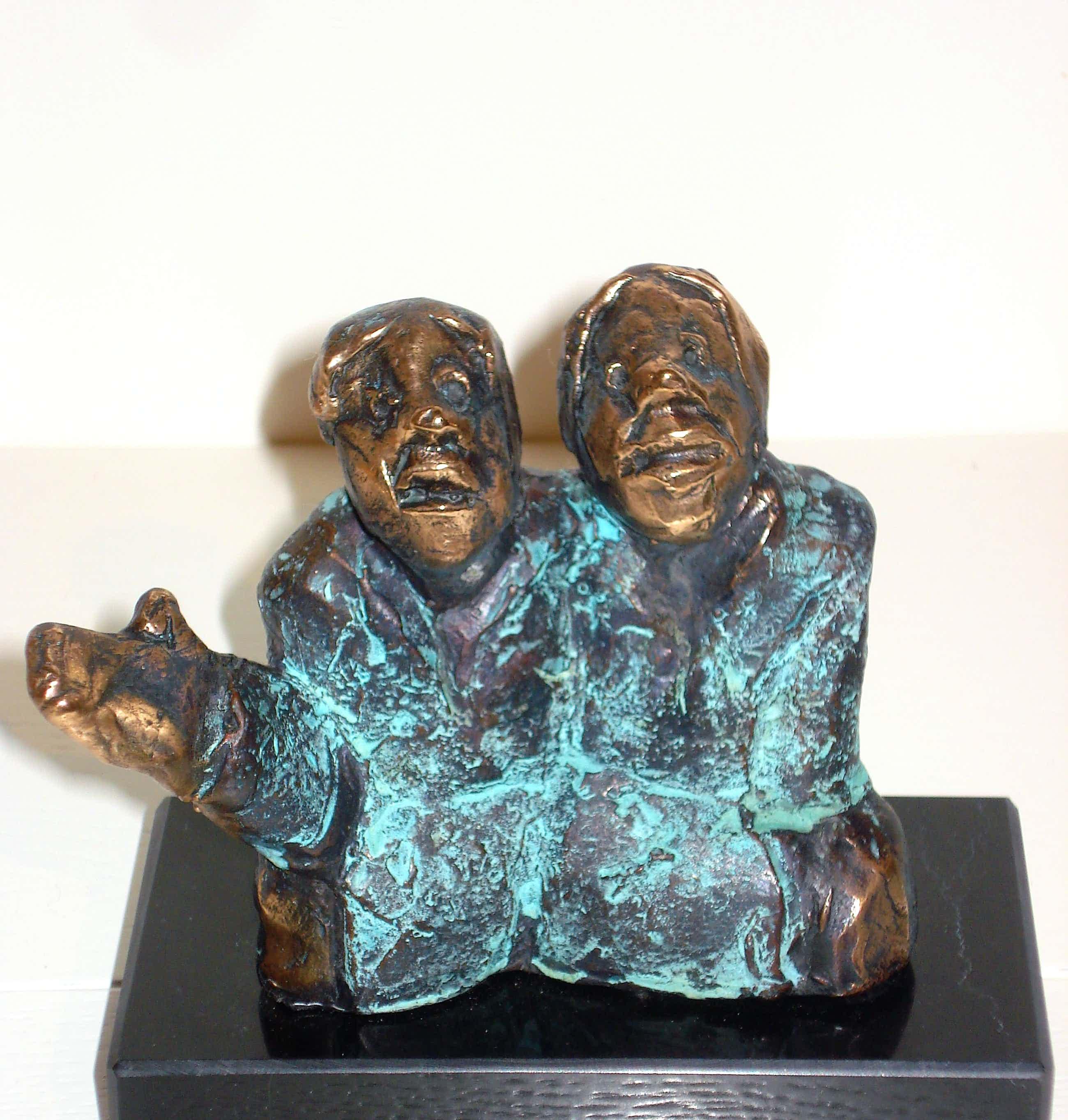 Sjer Jacobs - Twee Figuren (massief brons op marmer) kopen? Bied vanaf 345!