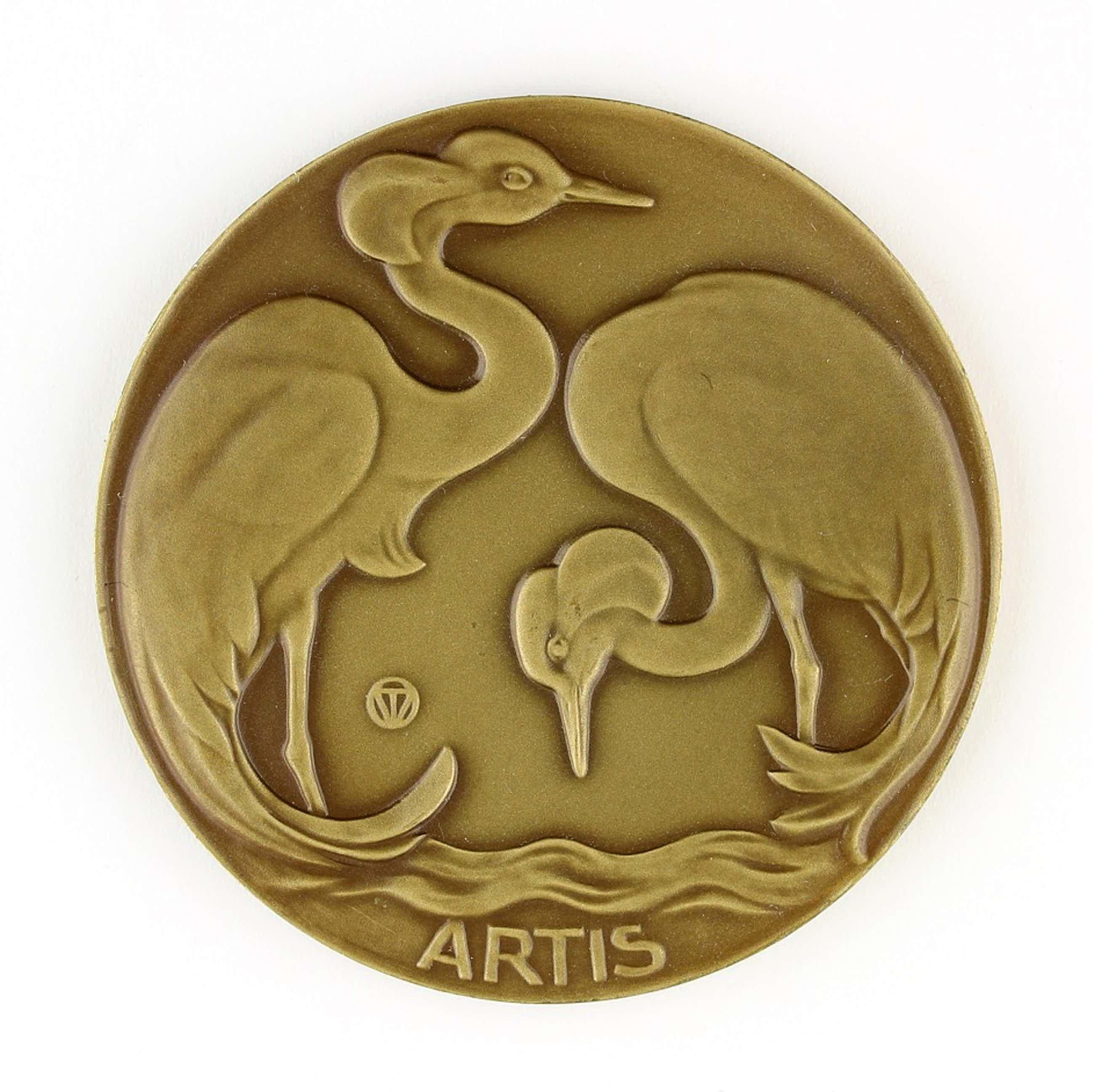 Tjipke visser - Bronzen penning: Artis, 1930 kopen? Bied vanaf 125!
