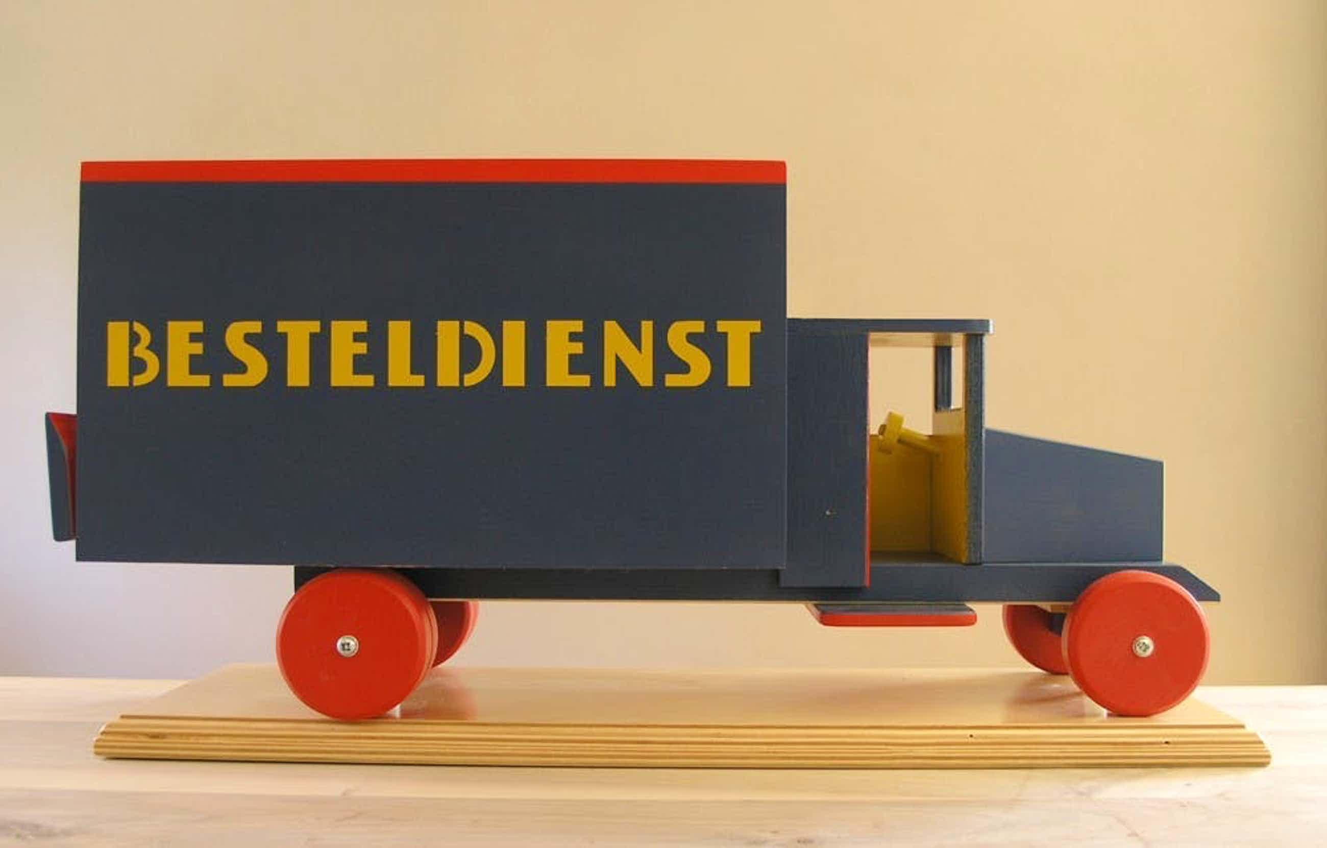 ADO - de Stijl, Ko Verzuu #BESTELDIENST, 50 cm.# Hout /Wooden toy, ltd ed. 250, kopen? Bied vanaf 125!